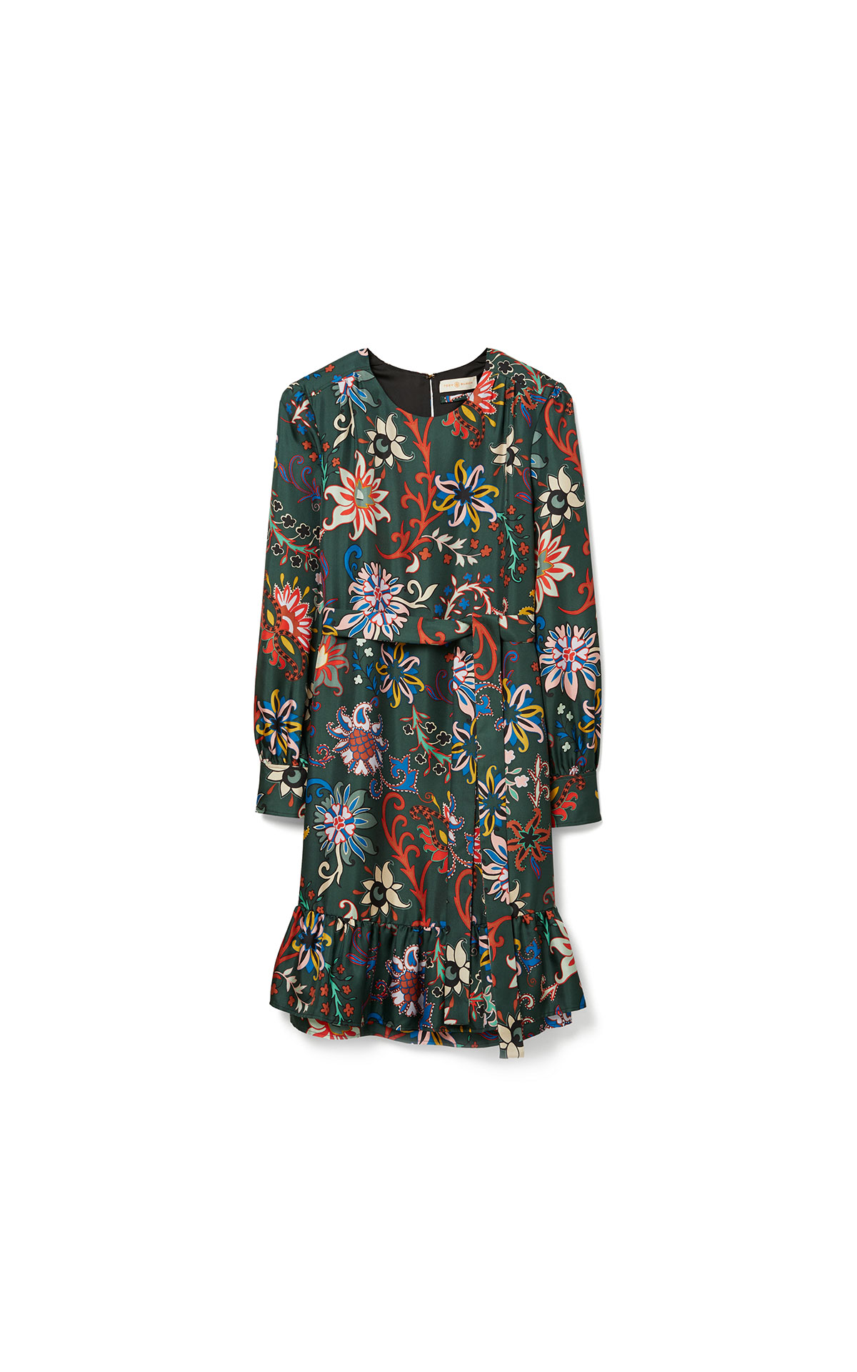 Tory Burch Printed silk twill shift dress in black mountain floral at The Bicester Village Shopping Collection