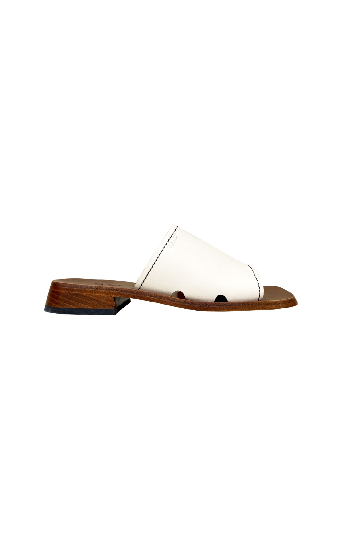 White leather flat sandal Bally