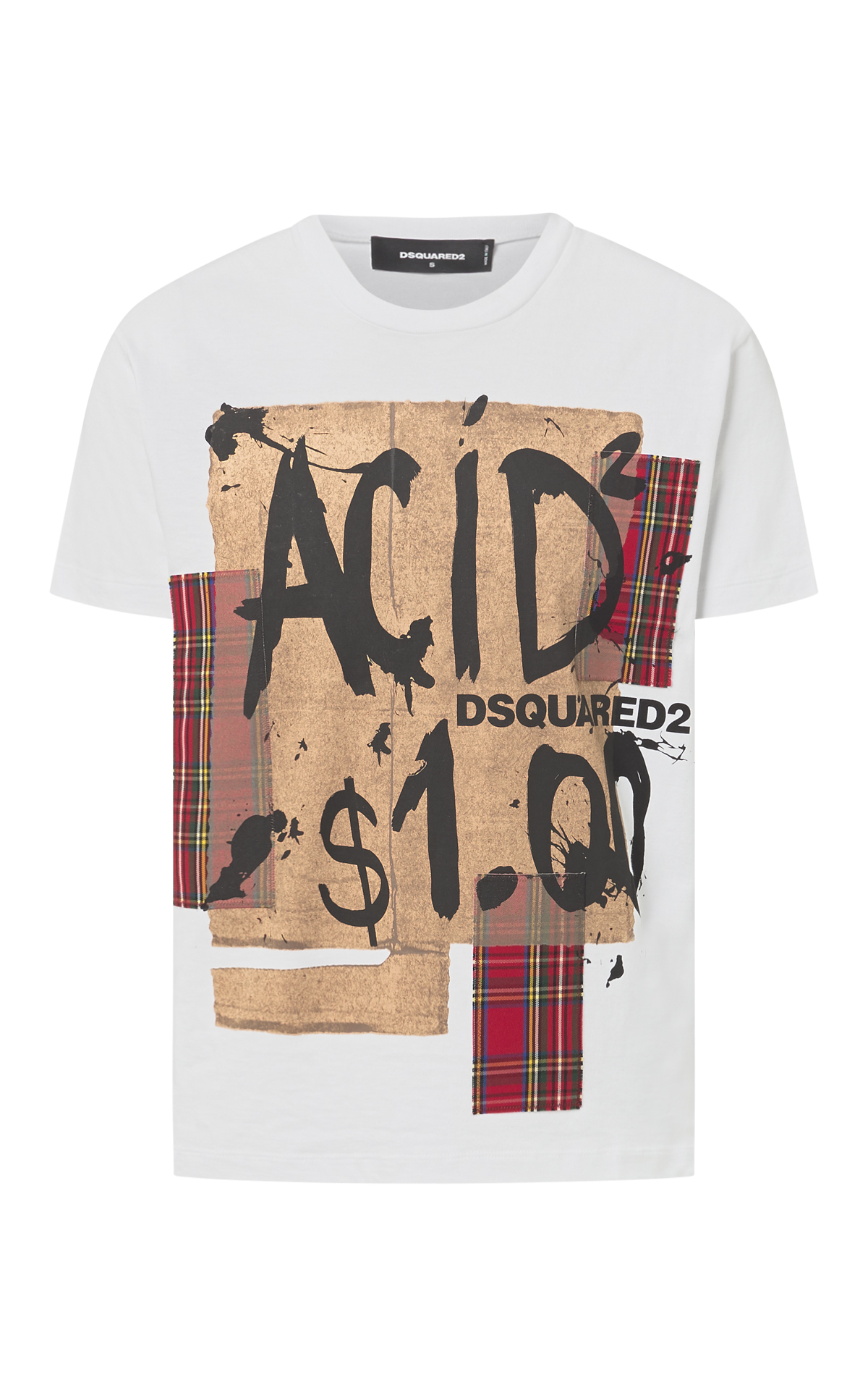 Printed cotton white T-Shirt for man Dsquared2