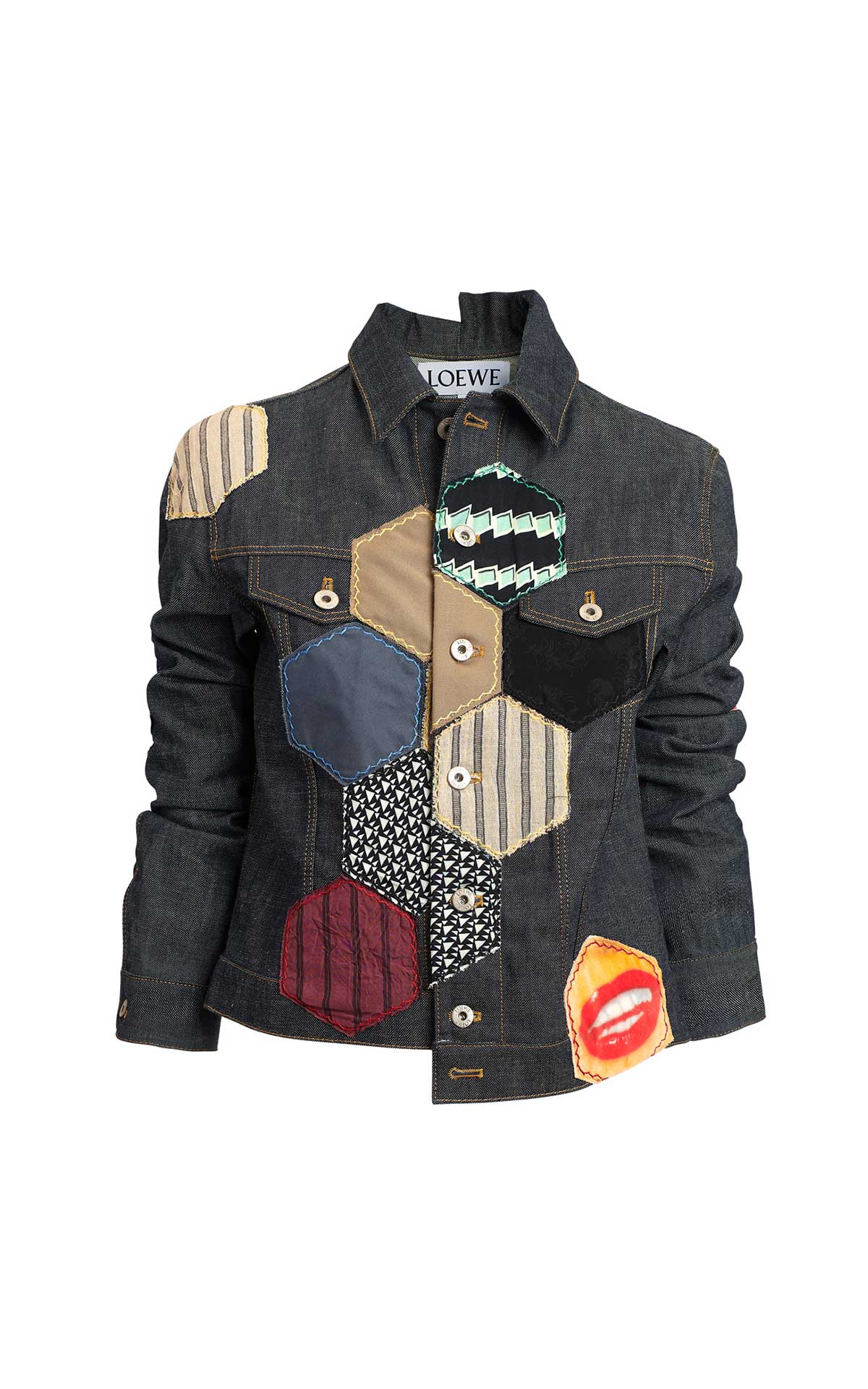 Denim jacket with patches Loewe