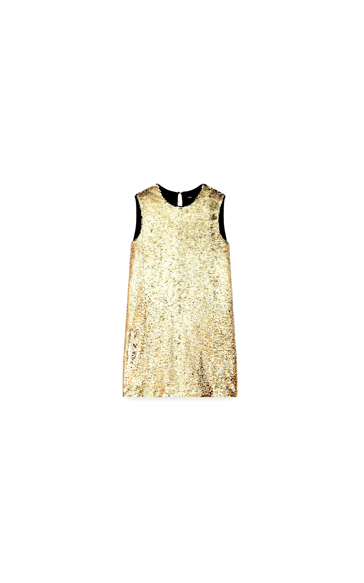 Maje Sequin pencil dress in gold at The Bicester Village Shopping Collection