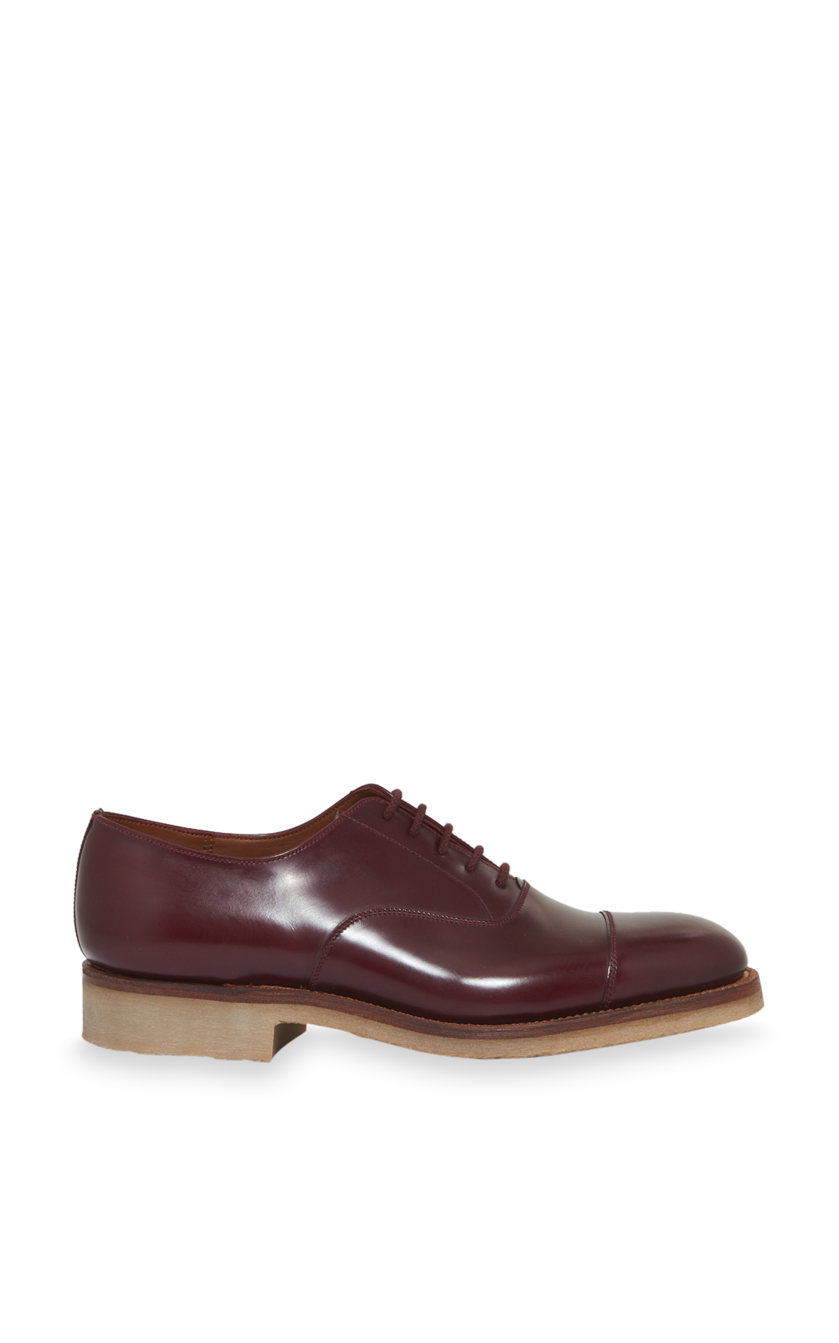 la vallée village J.M. Weston Burgundy Oxford shoes