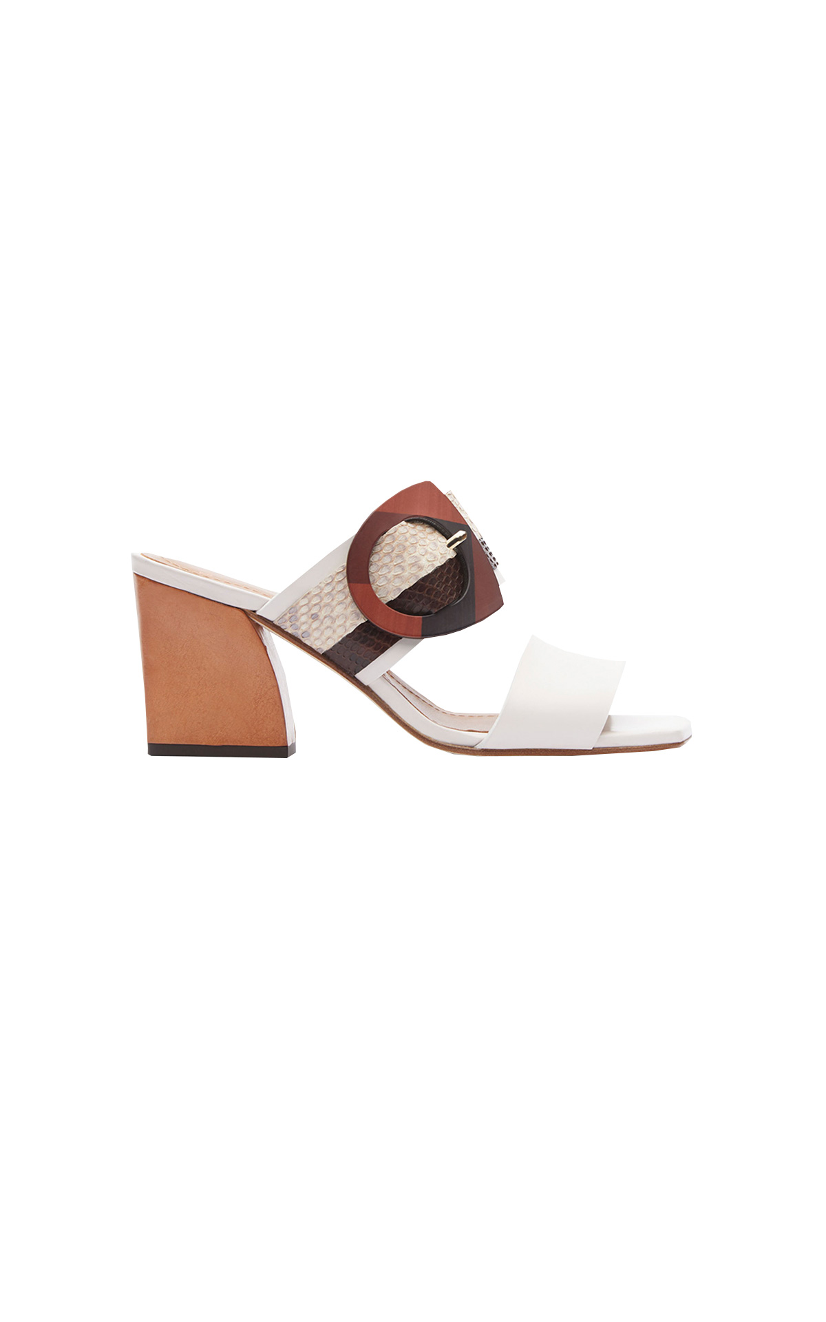 White sandal with buckle Lottusse