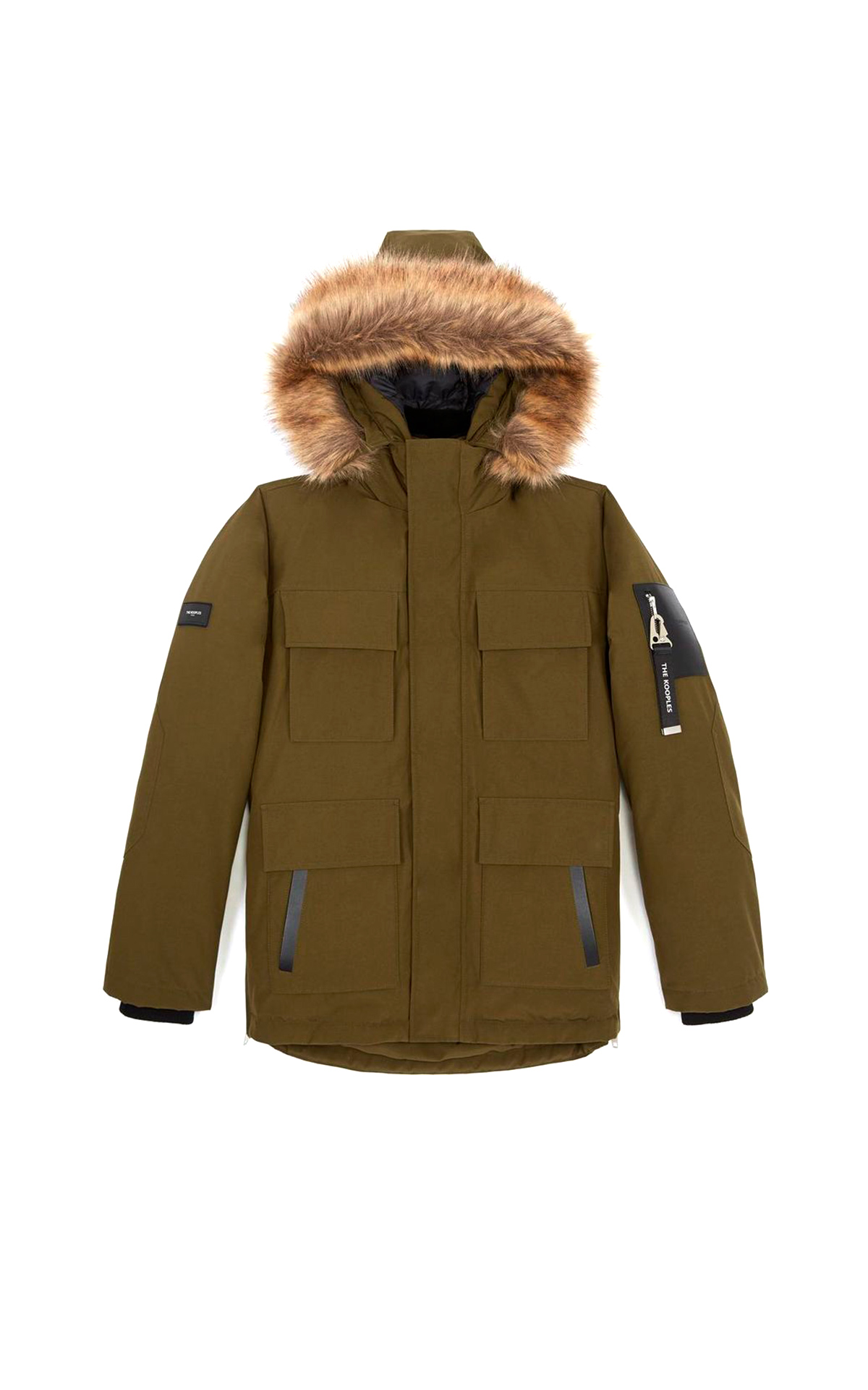 Parka caqui The Kooples