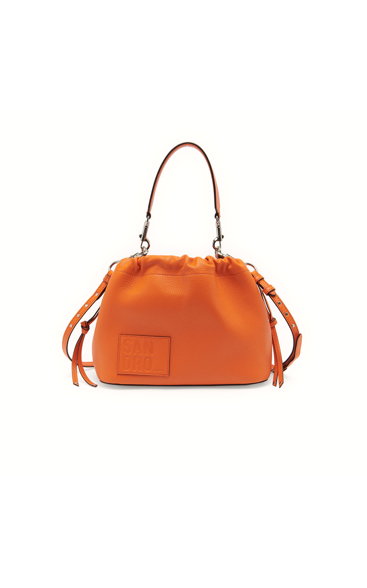 Sandro grained leather bucket bag at The Bicester Village Shopping Collection