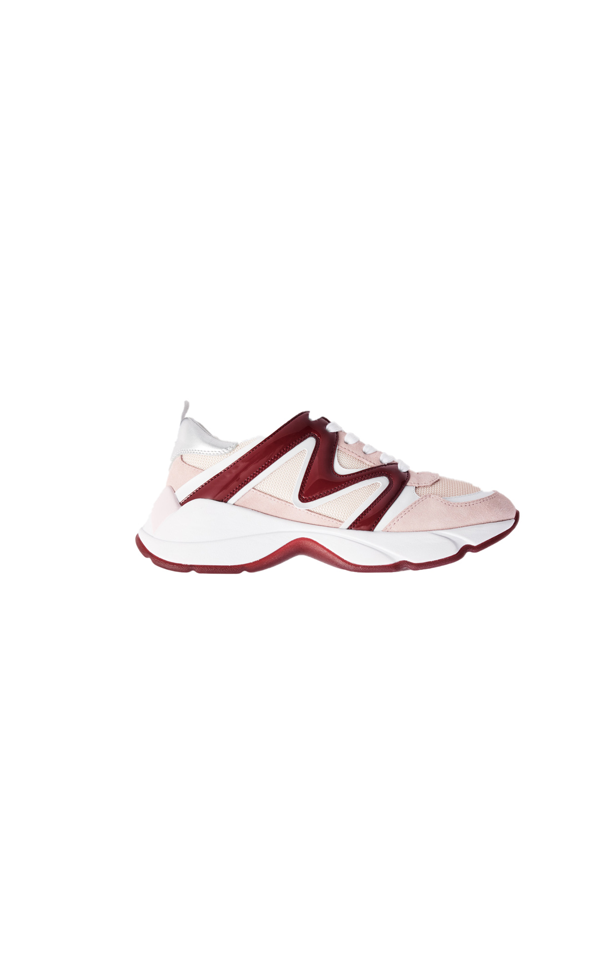Maje W20 mixed material sneakers at The Bicester Village Shopping Collection