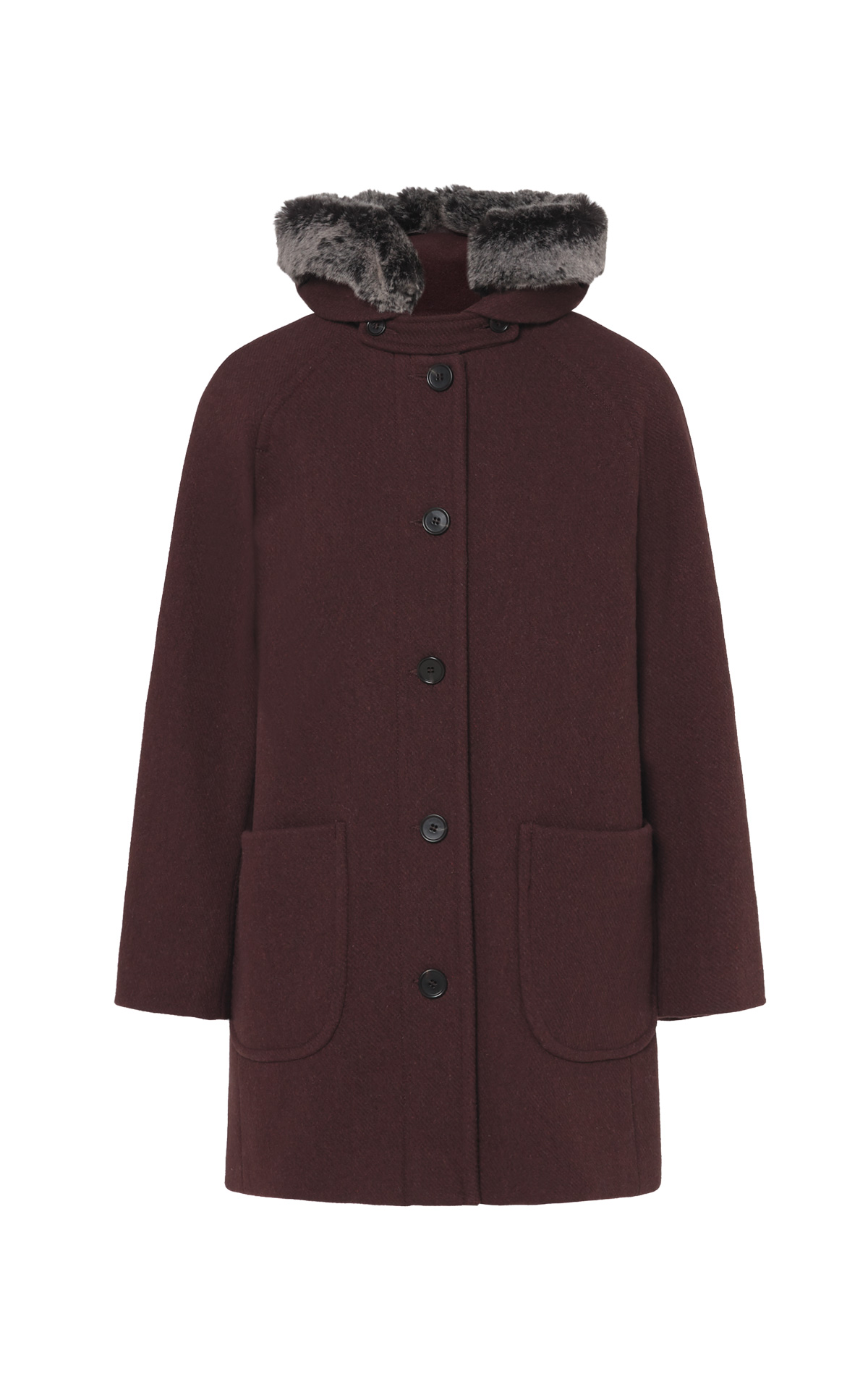 Bordeaux coat for women Comptoir des Cotonniers