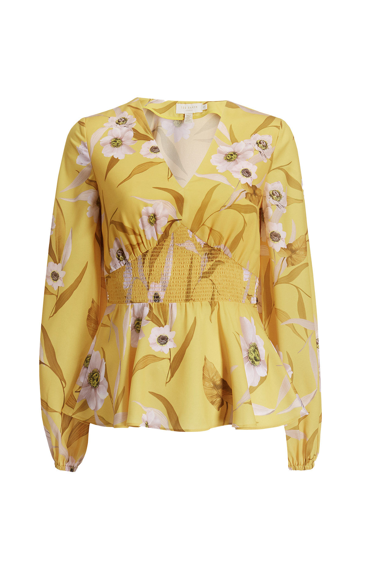 Yellow shirt with flowers Ted Baker