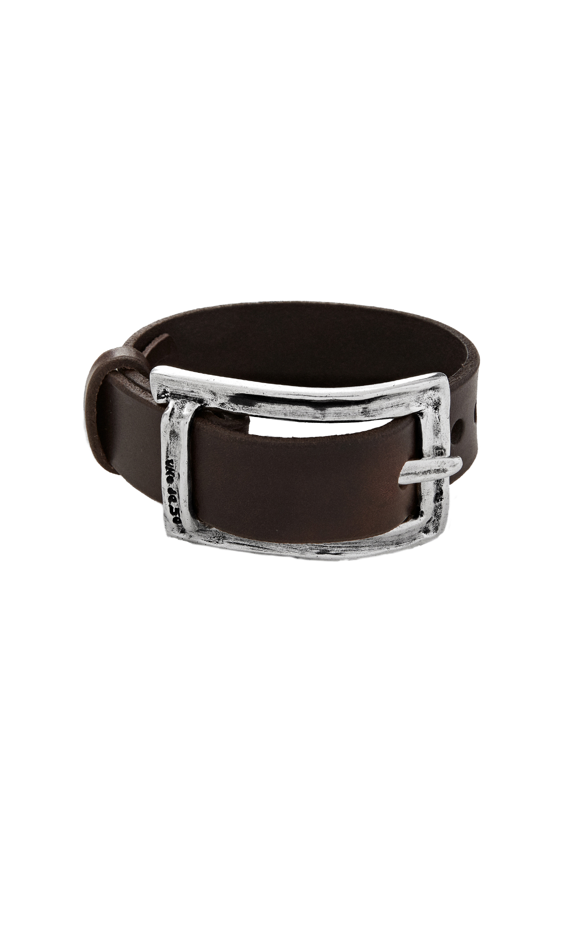 Leather bracelet with buckle UNOde50