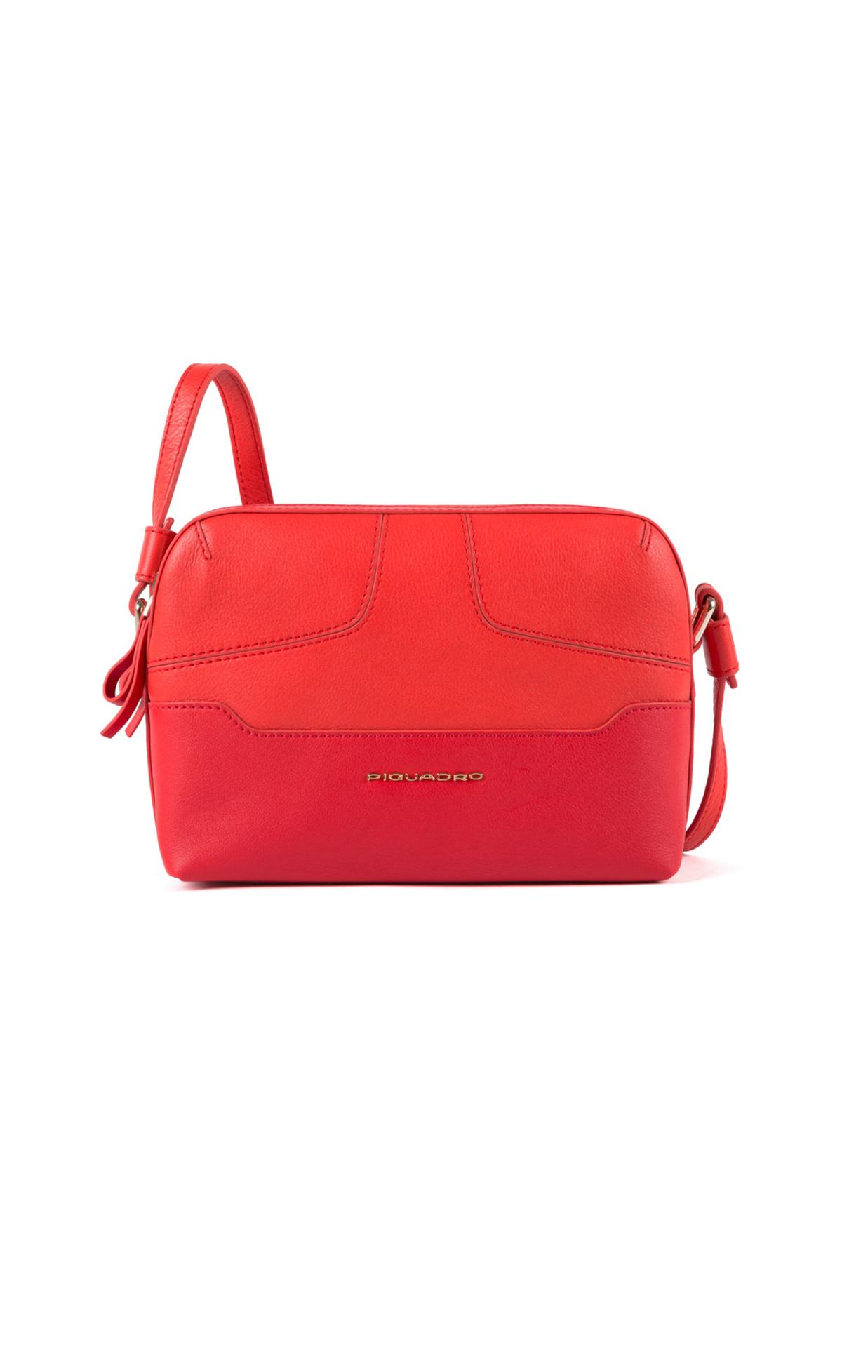 Red leather bag Piquadro
