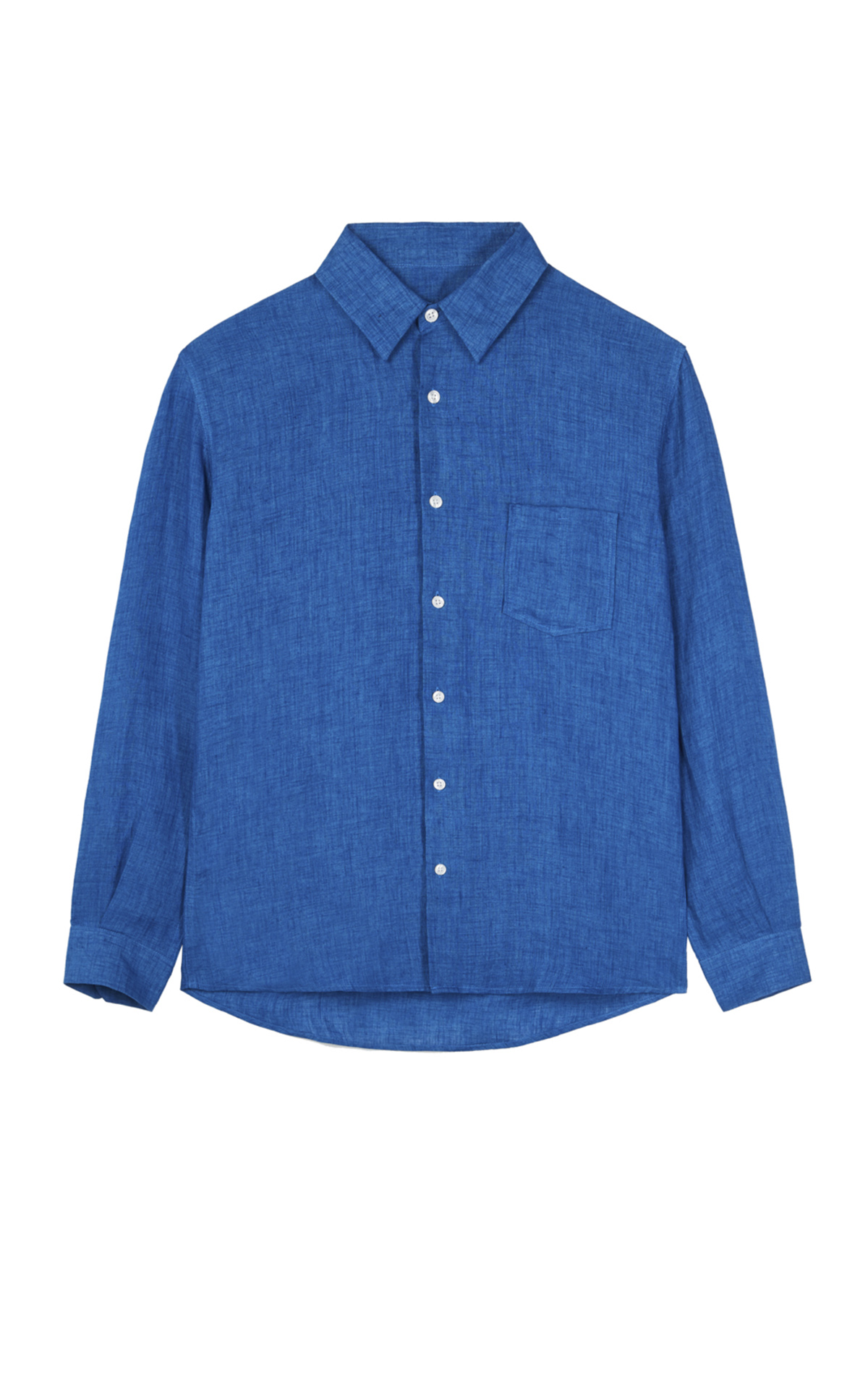 Blue linen shirt Adolfo Dominguez