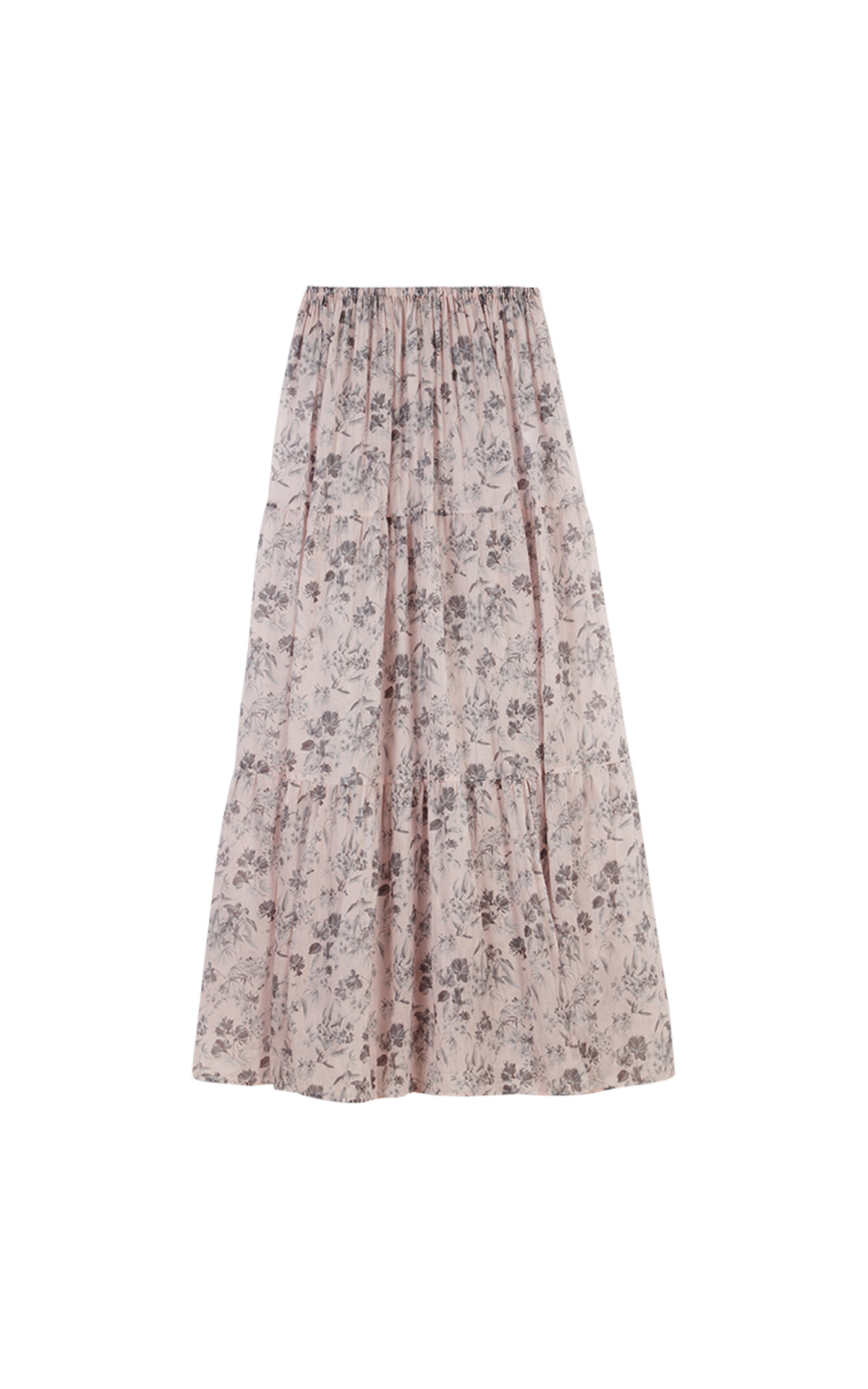 Maje Long floral-print cotton voile skirt at The Bicester Village Shopping Collection