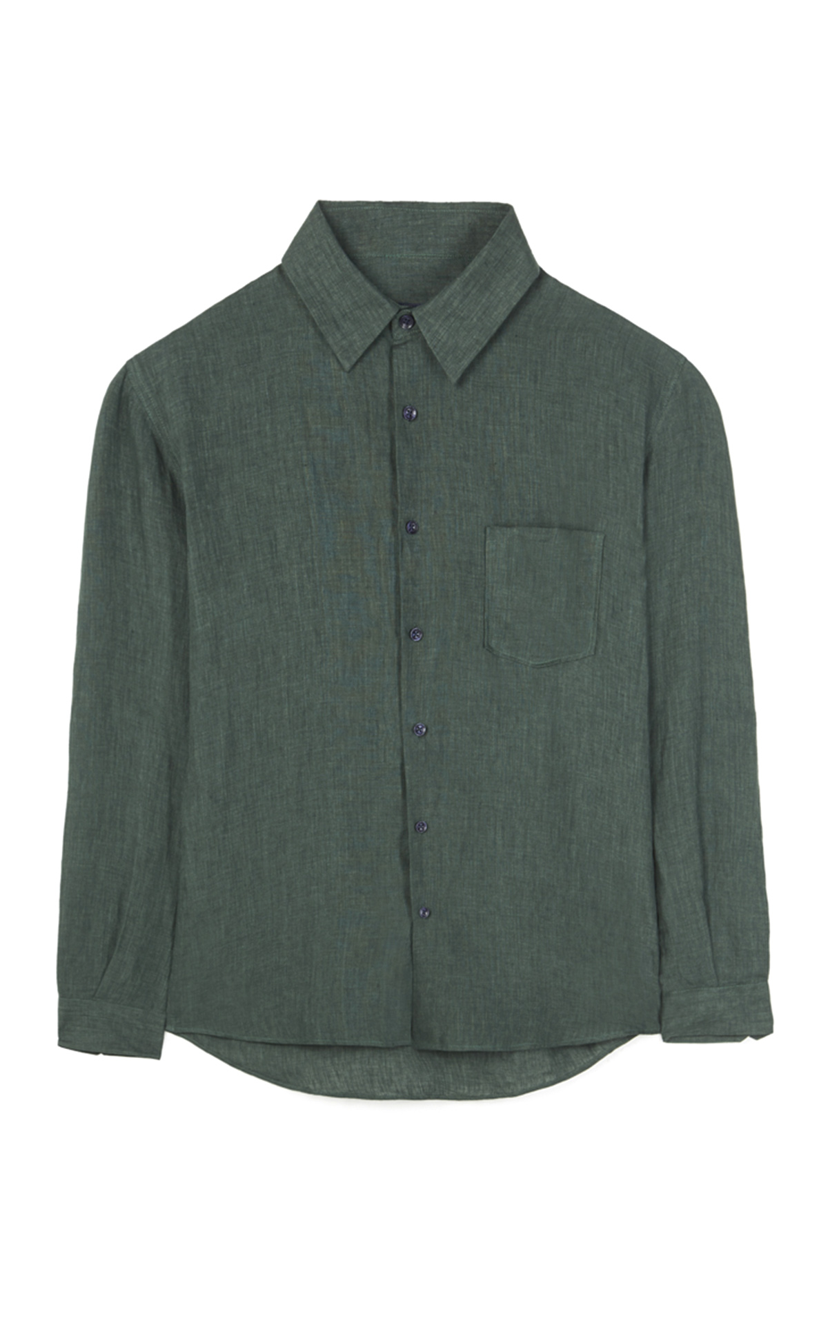 Green linen shirt Adolfo Dominguez