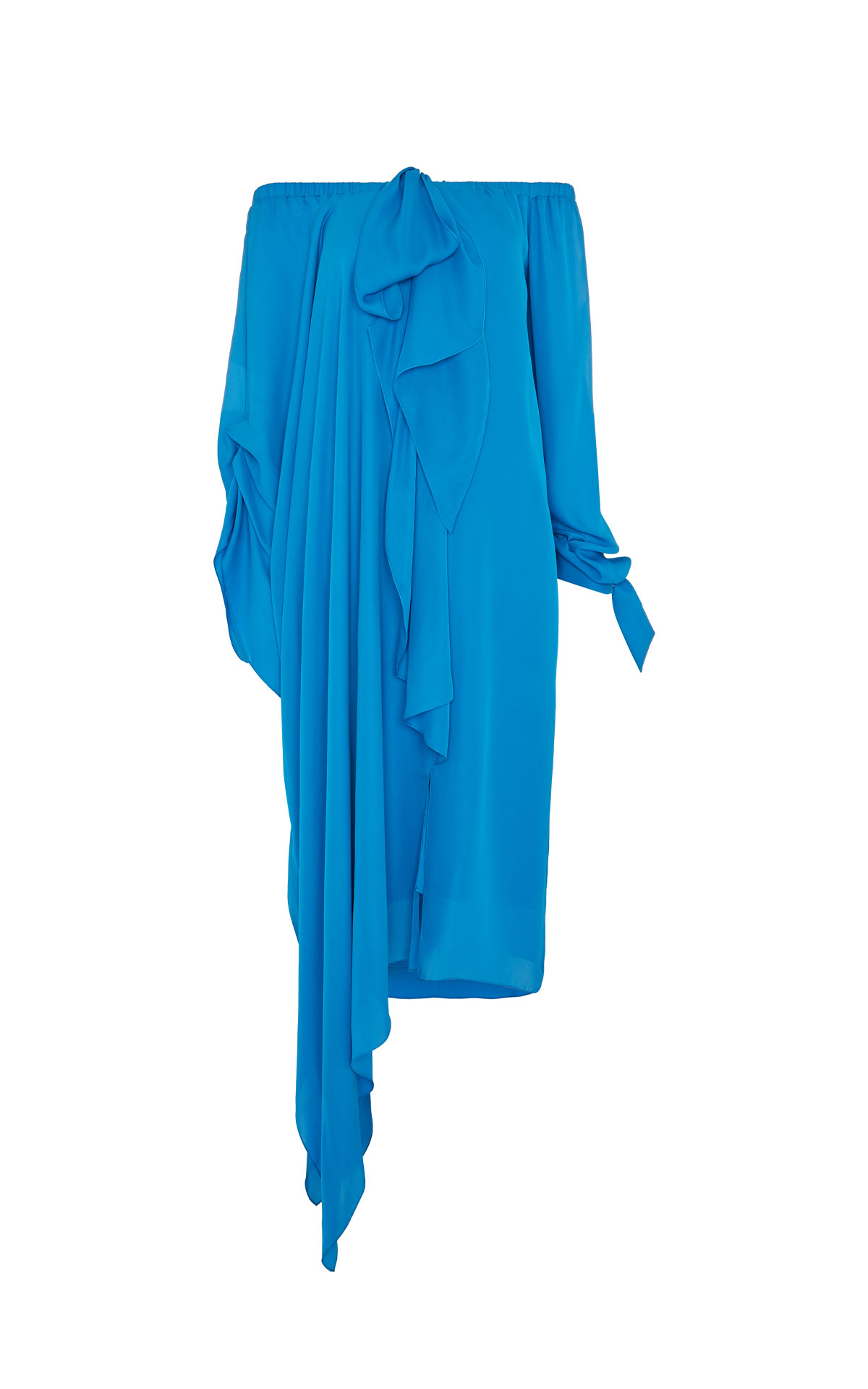 Roland Mouret Caldera azure blue dress from Bicester Village
