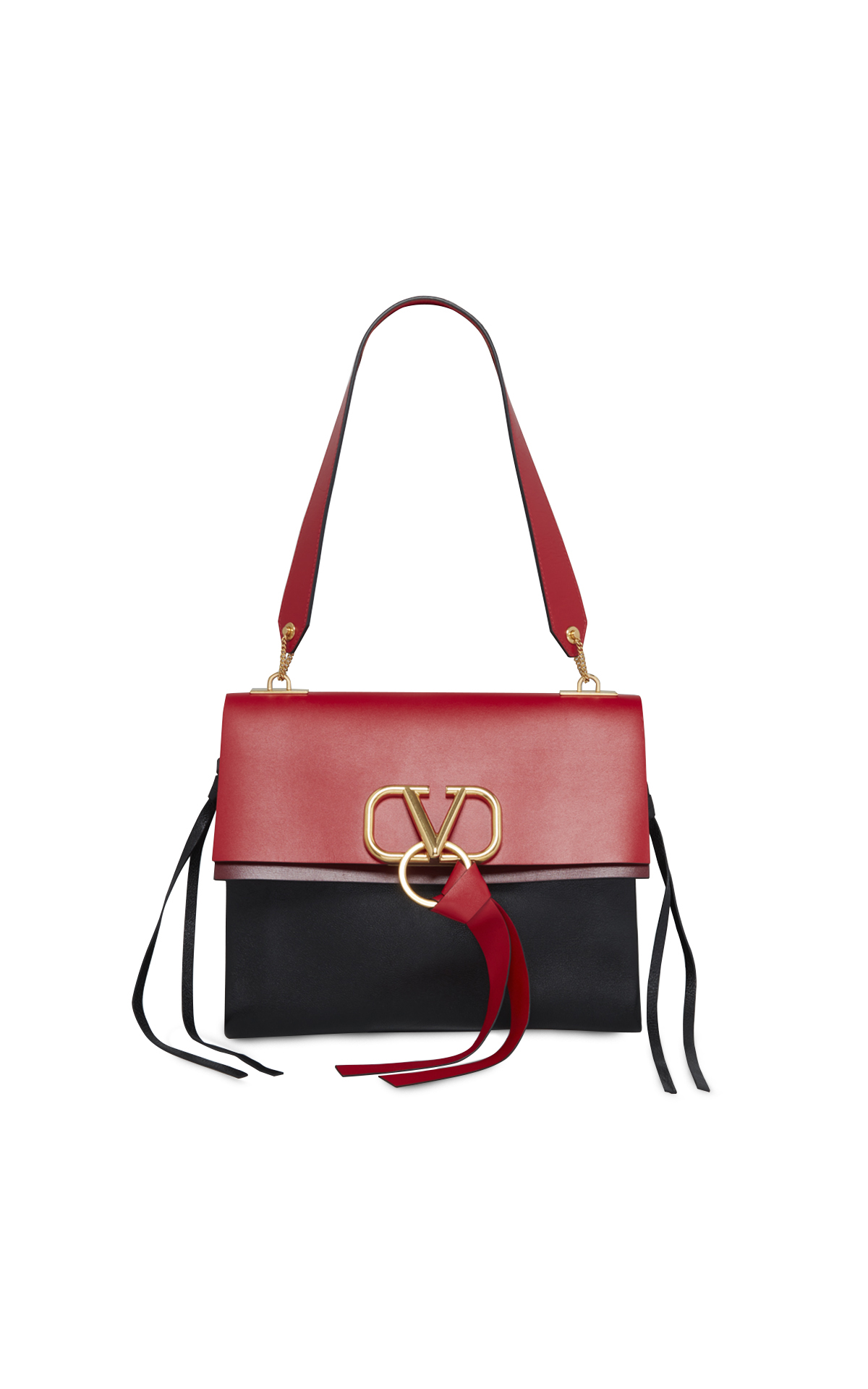 Valentino Black-and-Red Vrings bag, La Vallée Village