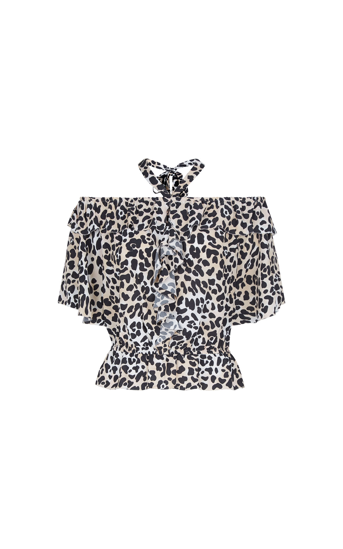 Temperley London Wild cat ruffle blouse from Bicester Village