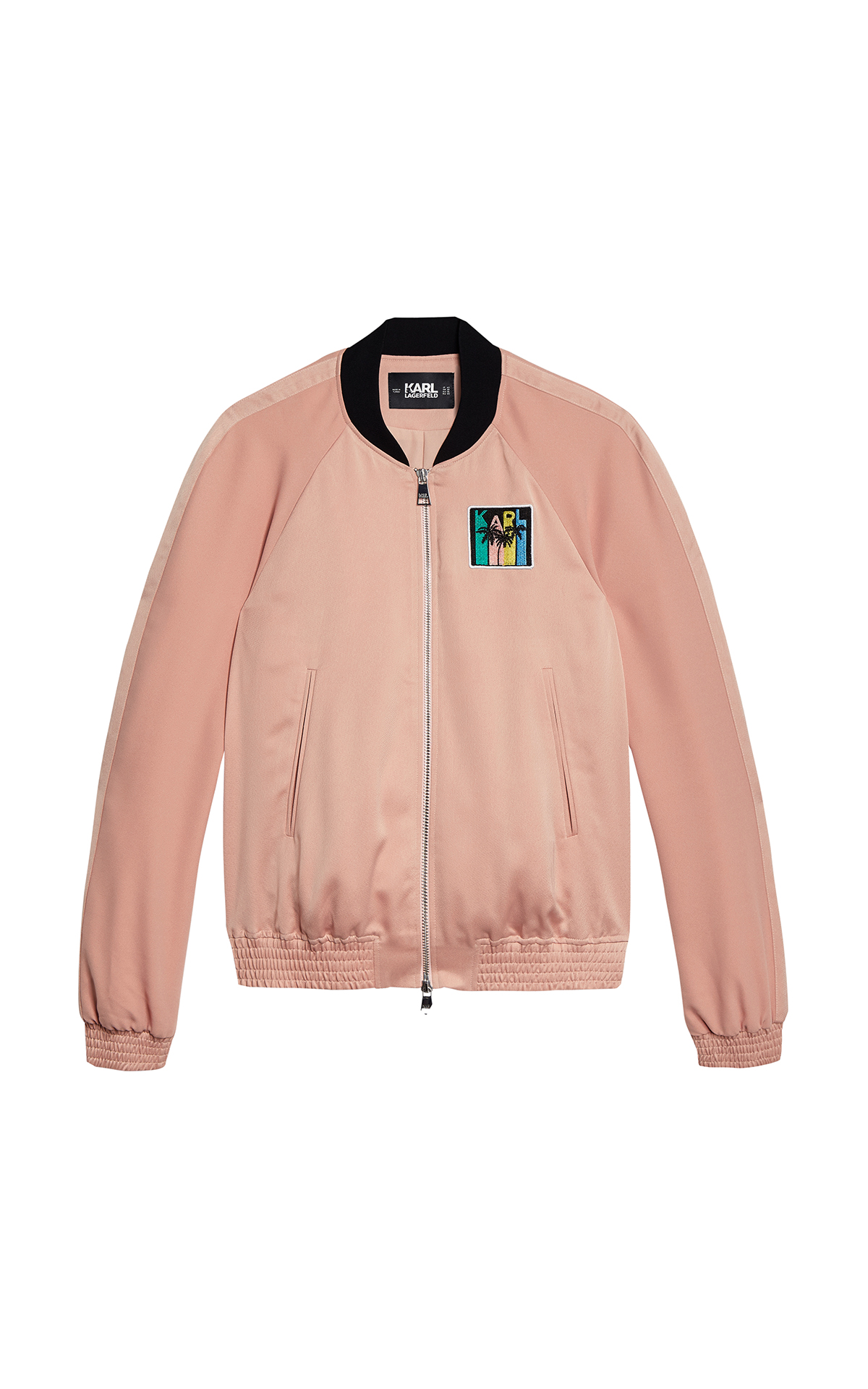 KARL LAGERFELD Satin Bomber Jacket at The Bicester Village Shopping Collection