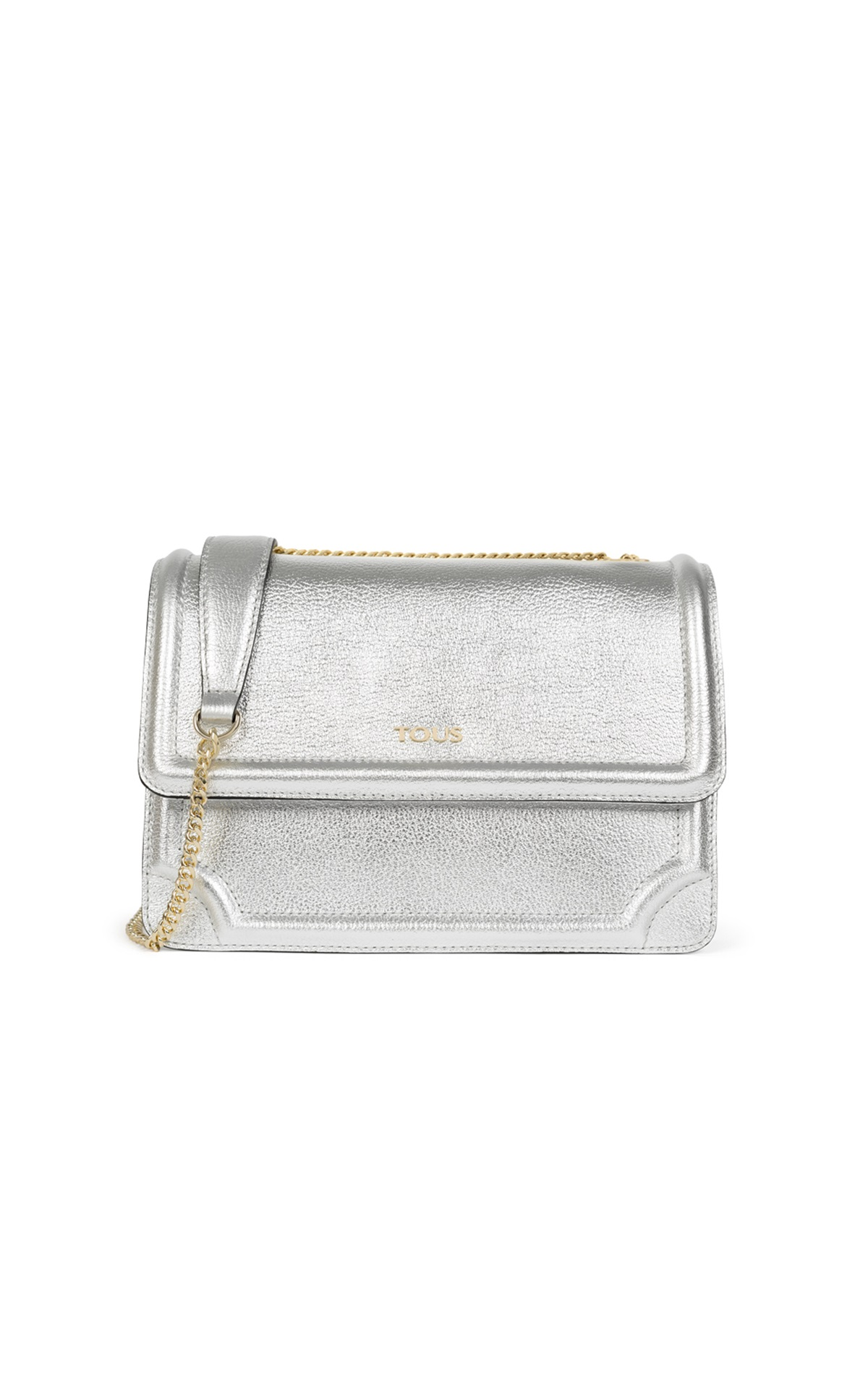 Silver leather crossbody bag Tous