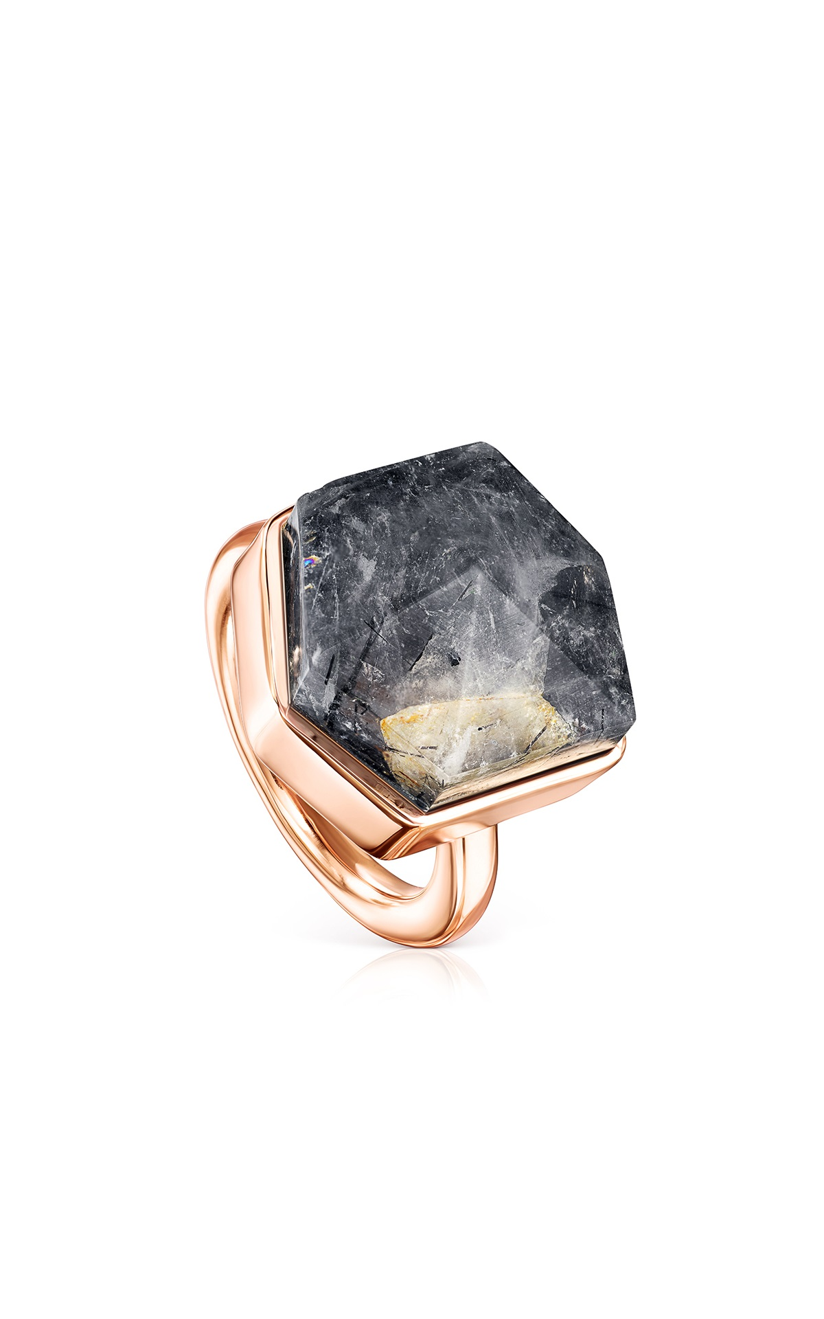 Ring with a black stone Tous