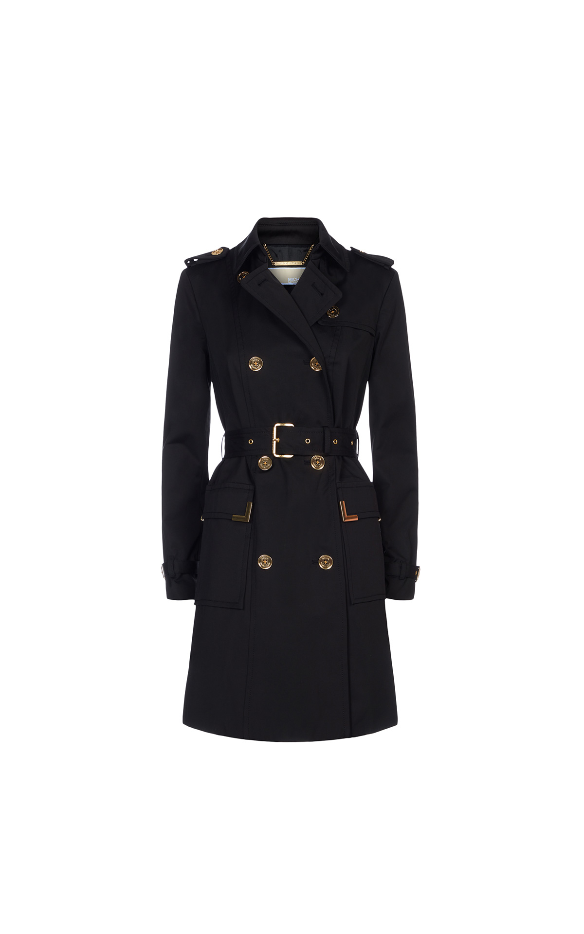 Michael Kors Beverly trench in black at The Bicester Village Shopping Collection