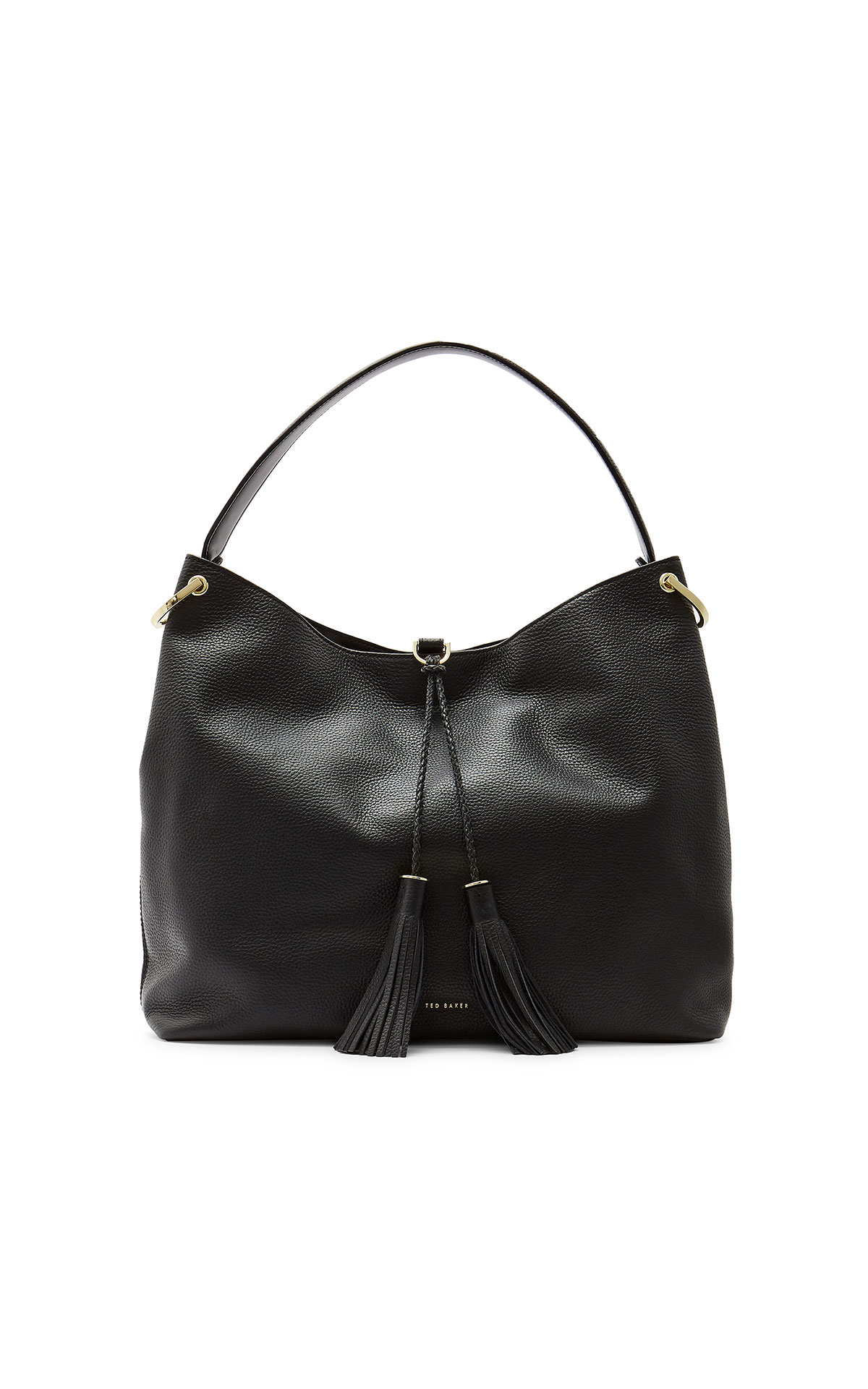 Ted Baker Demmi black tassel hobo bag from Bicester Village