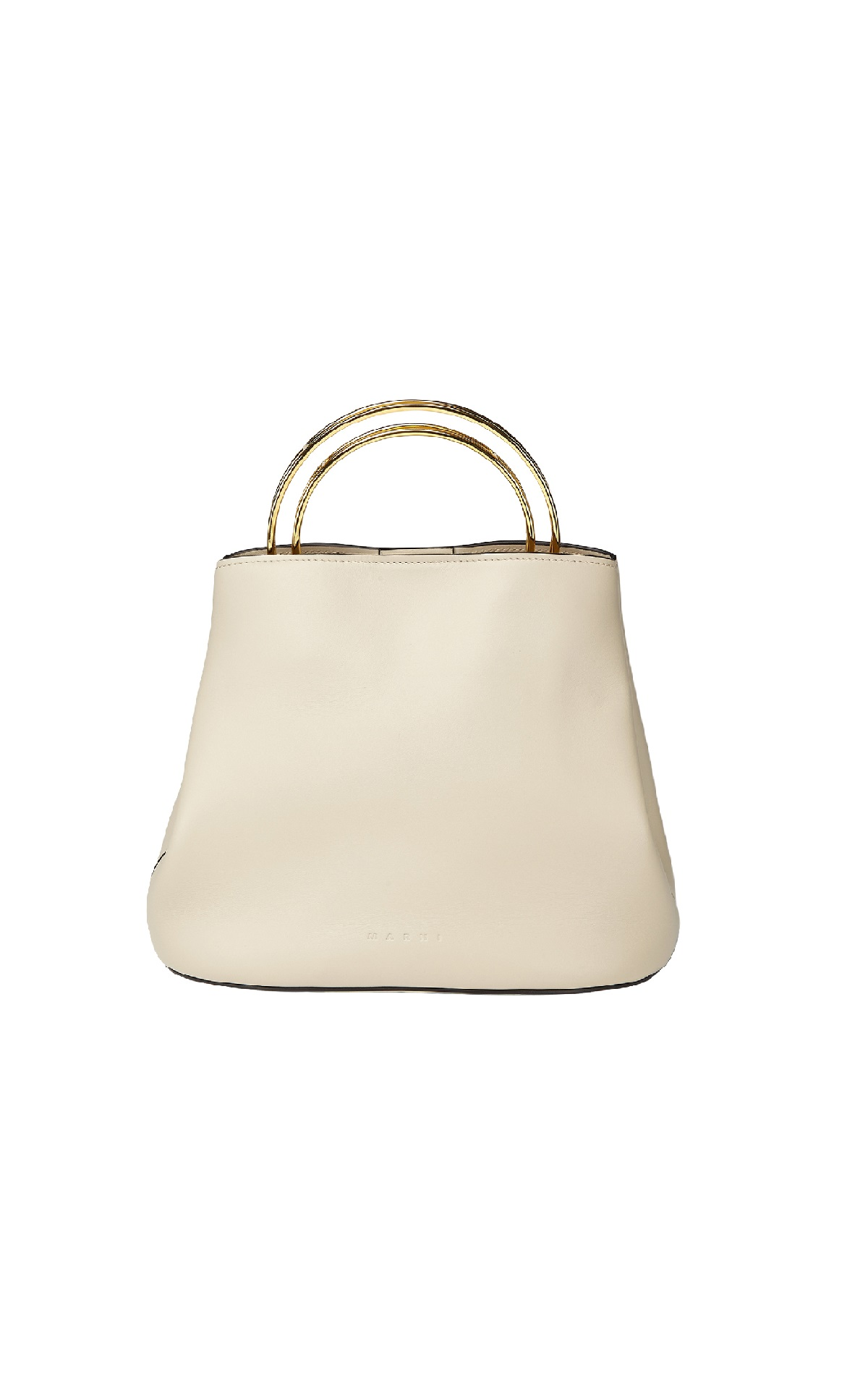 Biege leather bag Marni