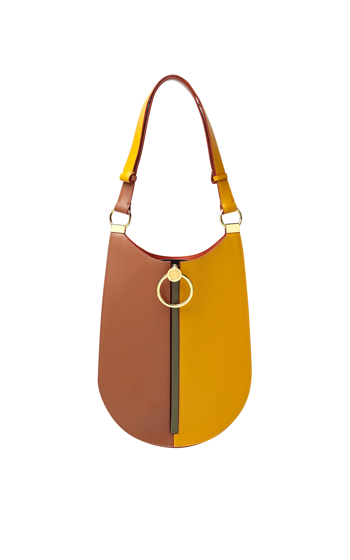 Brown and yellow bag Marni