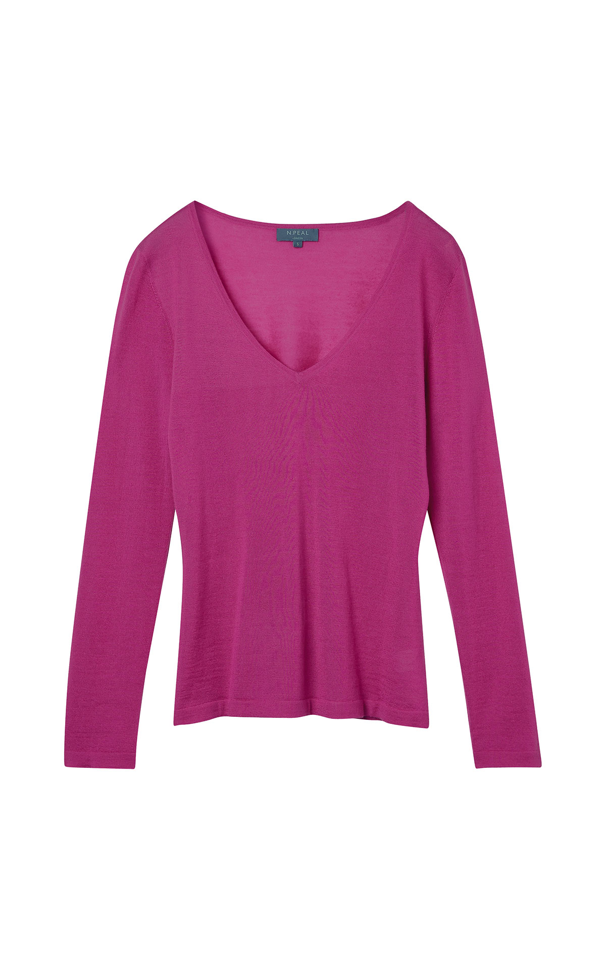 N. Peal SF v neck sweater purple from Bicester Village