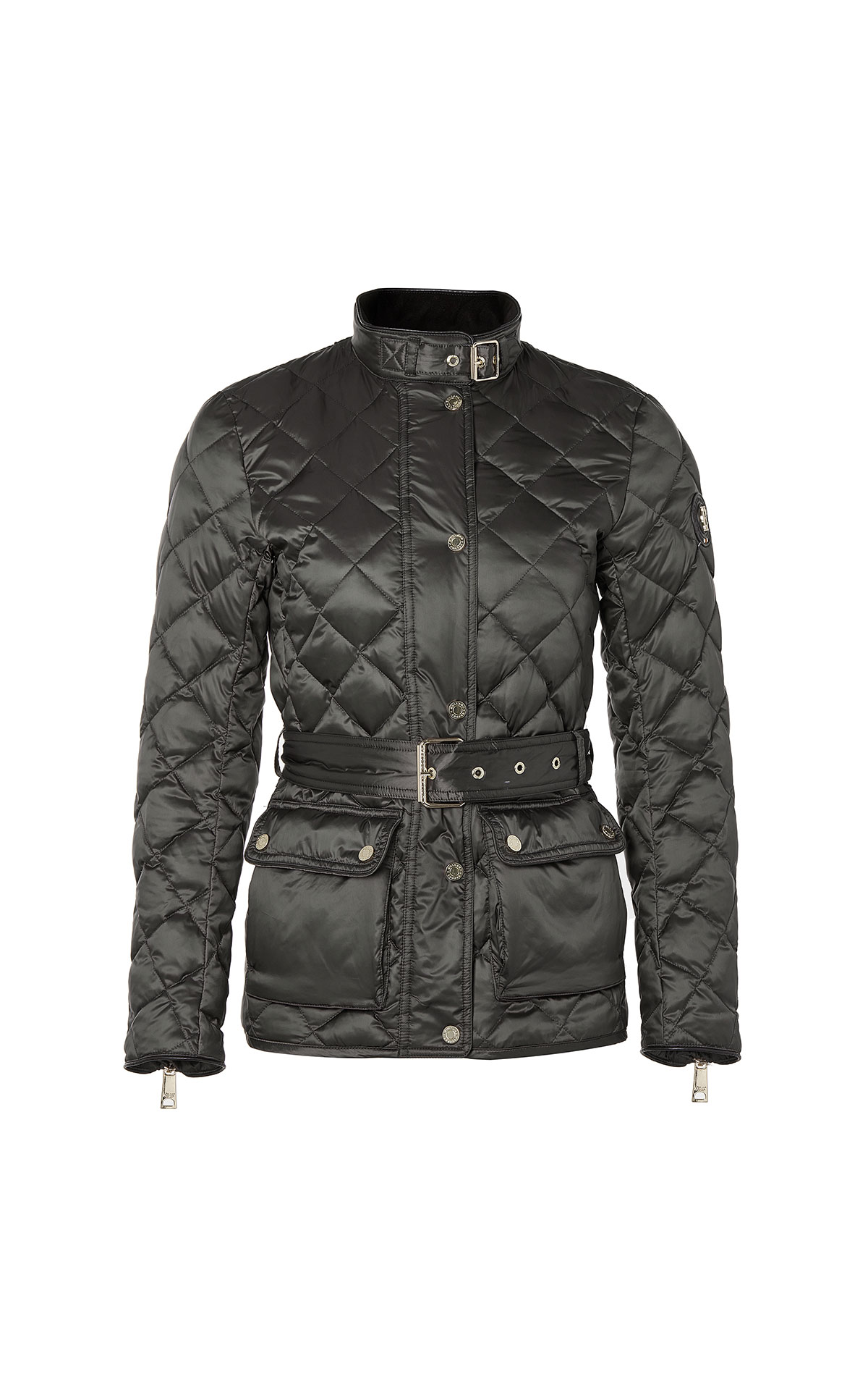 Holland Cooper Diamond quilt heritage jacket in petrol khaki from Bicester Village