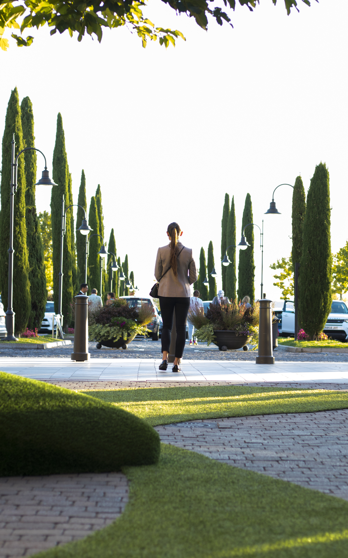 Girl walking in Las Rozas Village