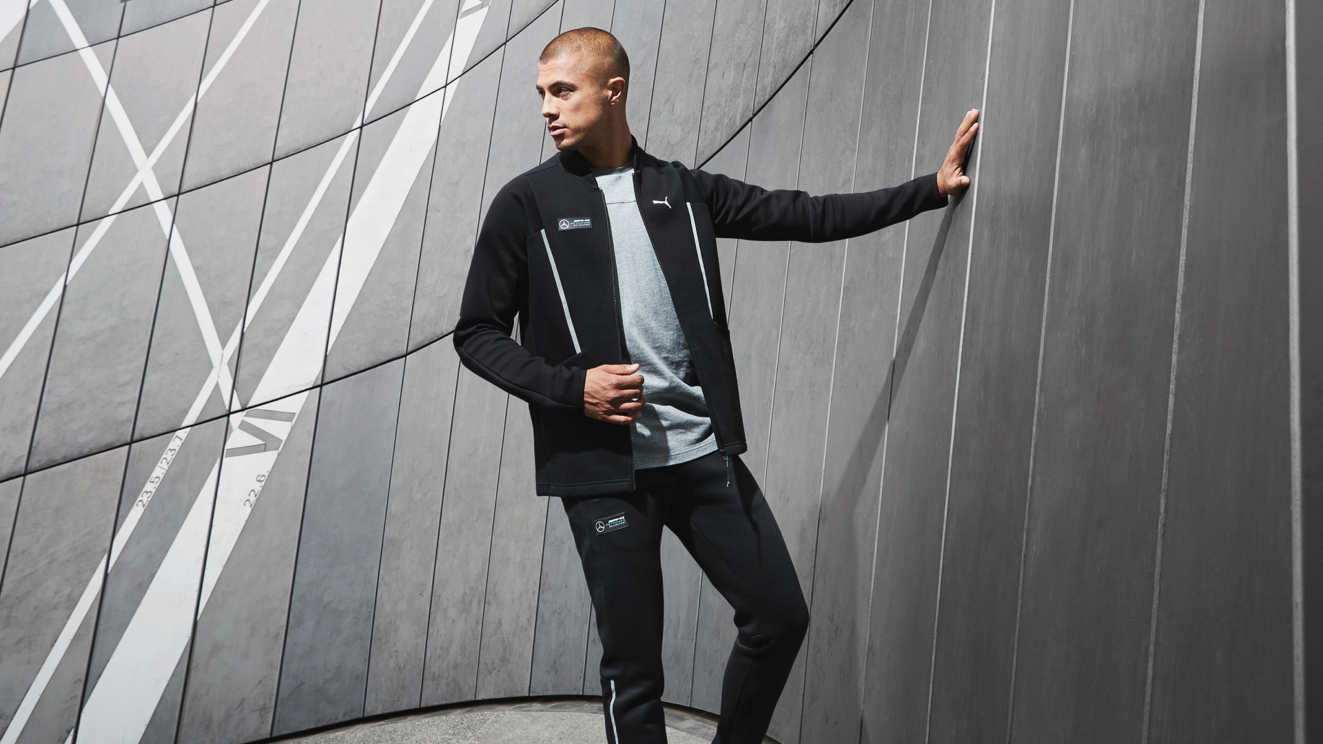 Model in PUMA tracksuit