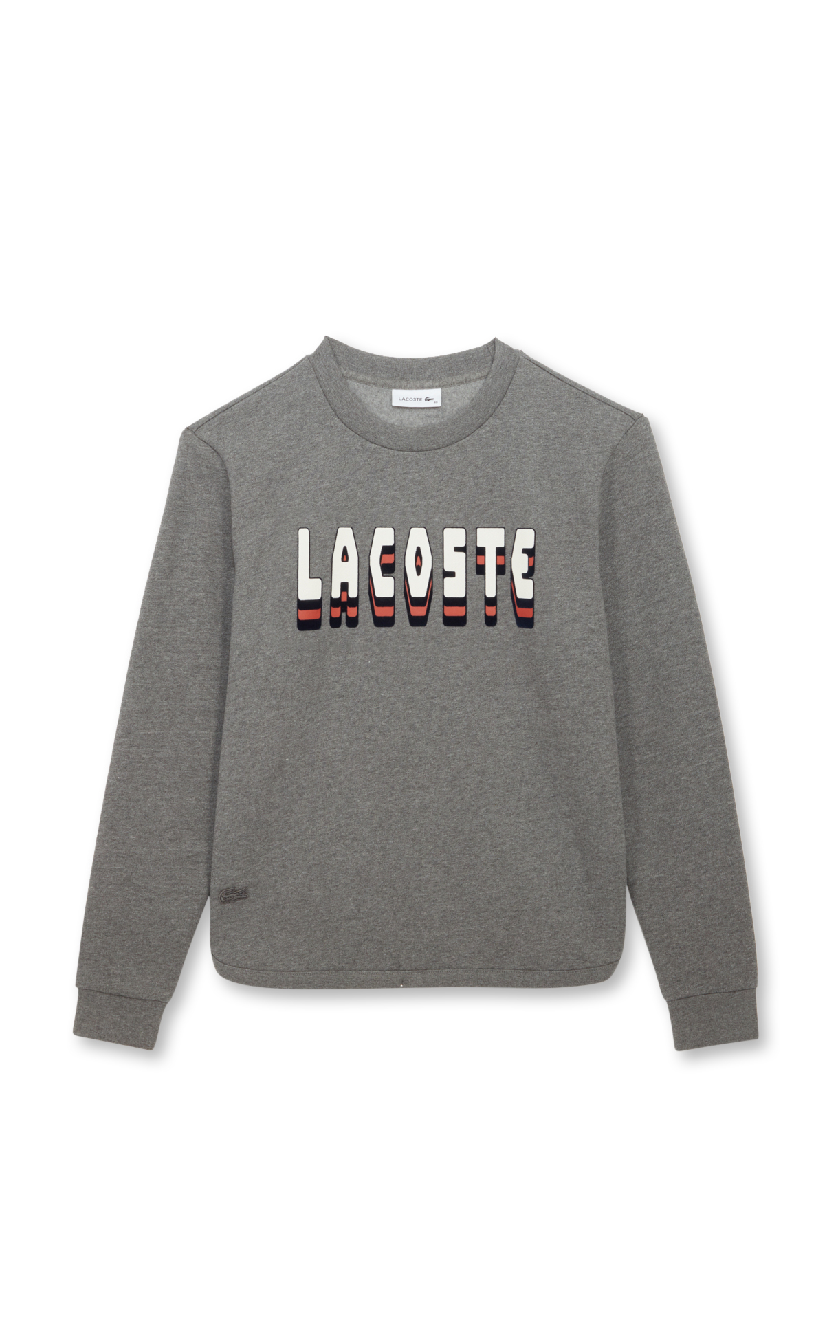 Lacoste Women's mottled grey sweatshirt with logo