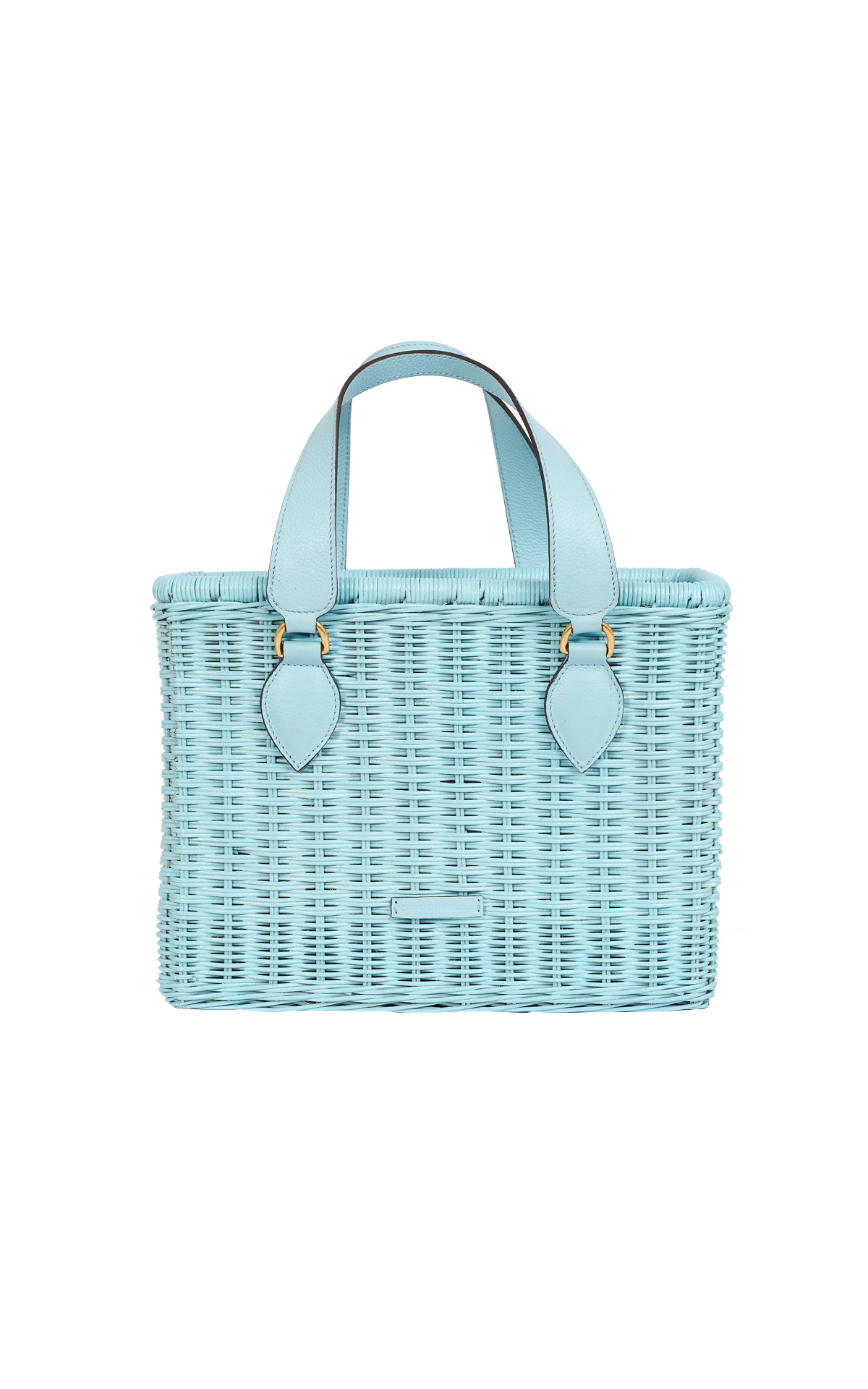 Blue wicker bag from Coccinelle