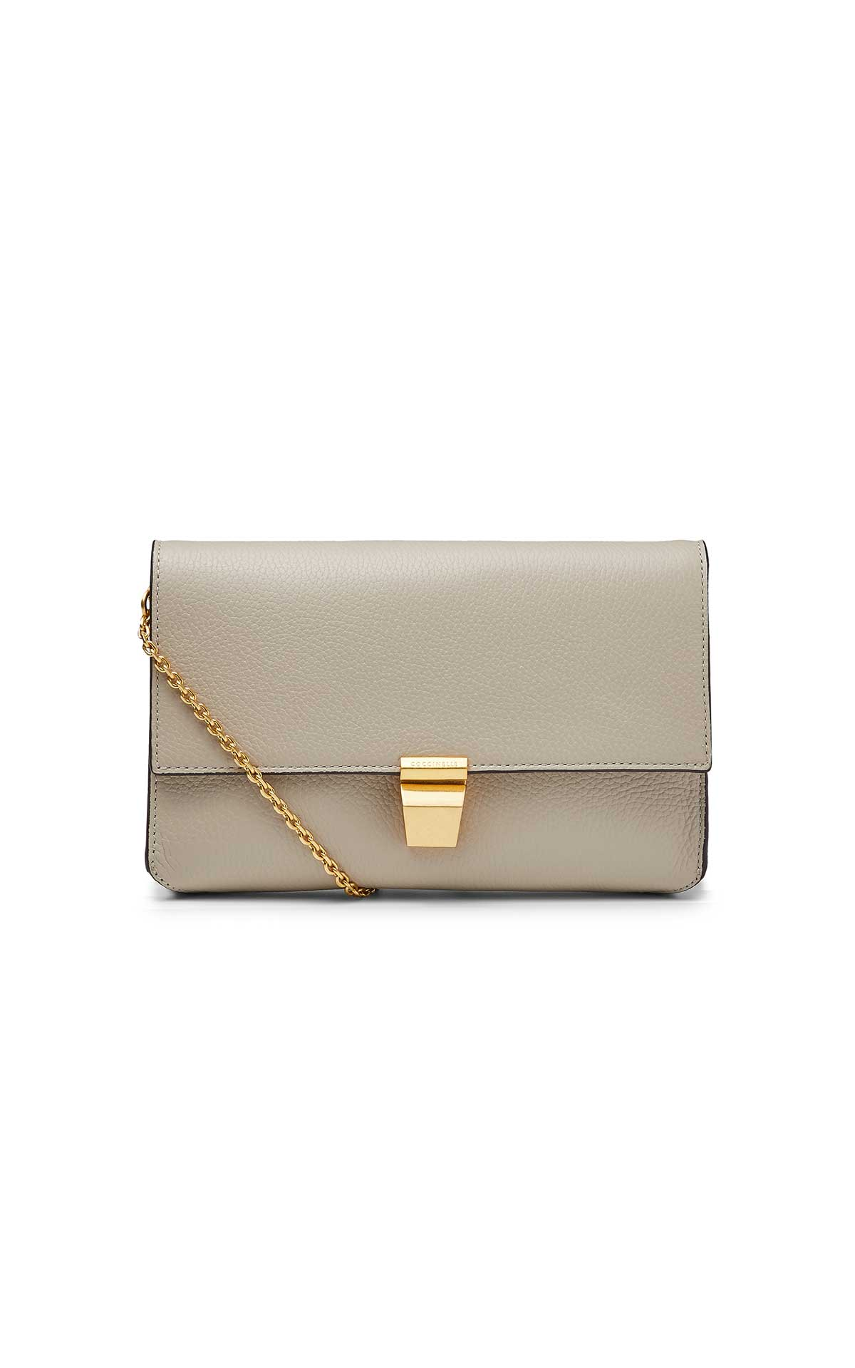 Beige leather bag from Coccinelle