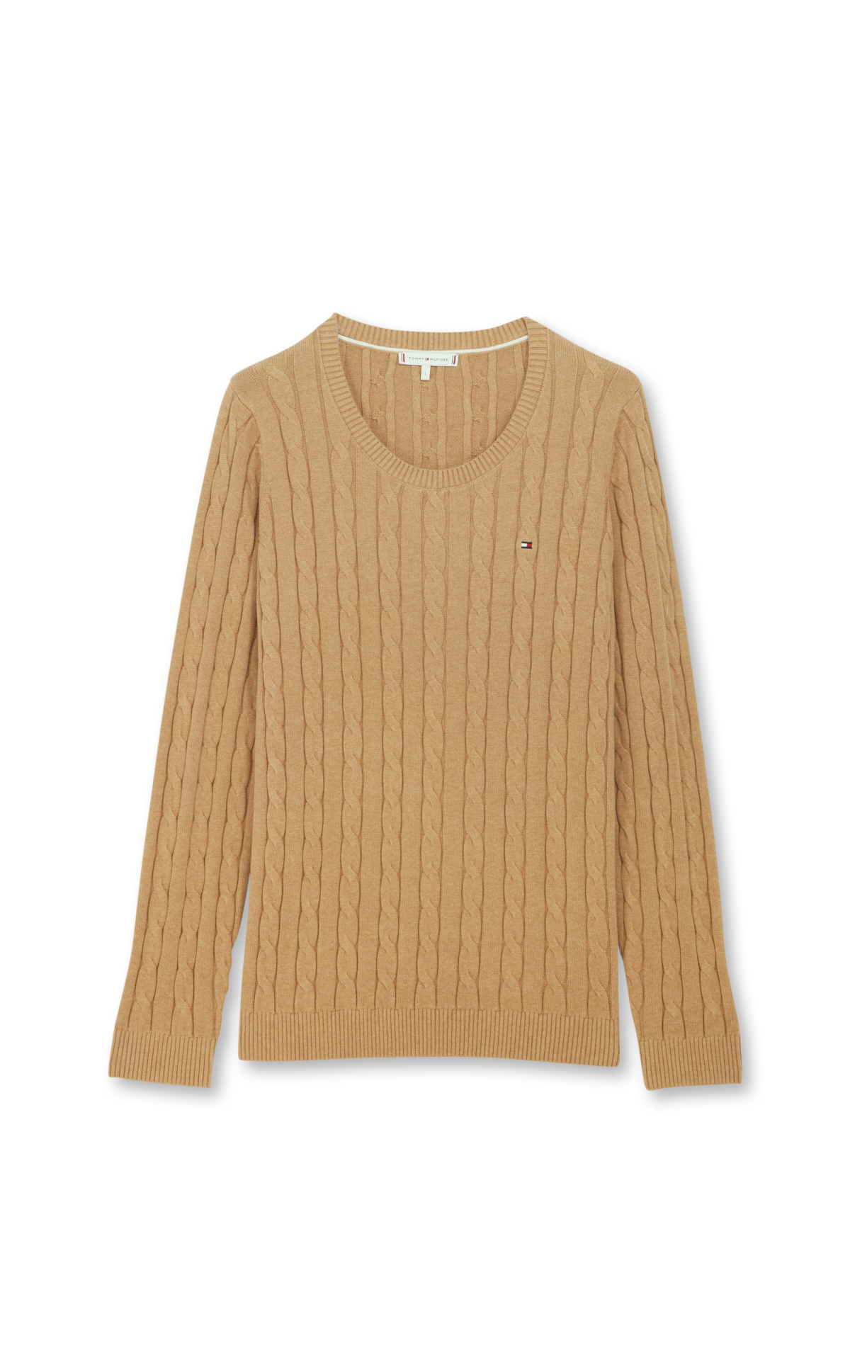 Tommy Hilfiger Twisted camel jumper