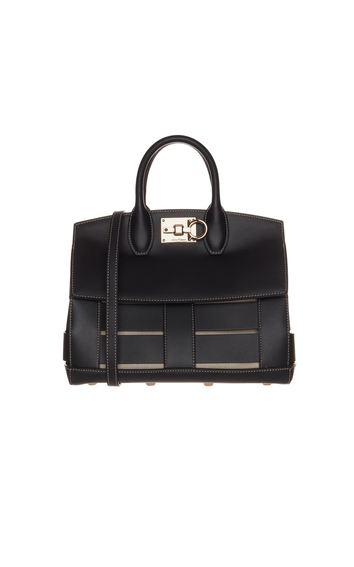 Salvatore Ferragamo Black top handle bag from Bicester Village