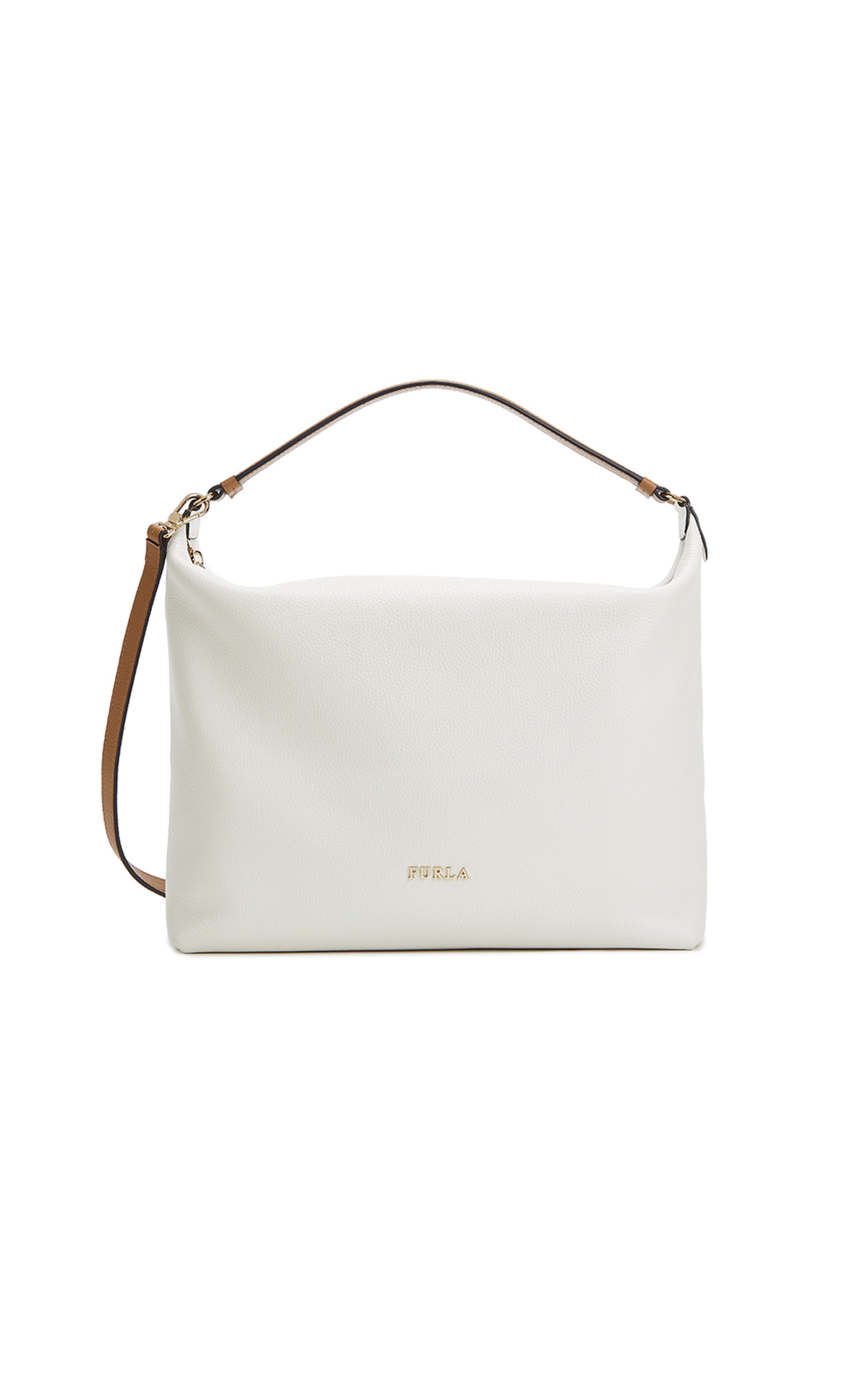 Furla's Sophie Medium Hobo Chalk & Desert Bag at The Bicester Village Shopping Collection