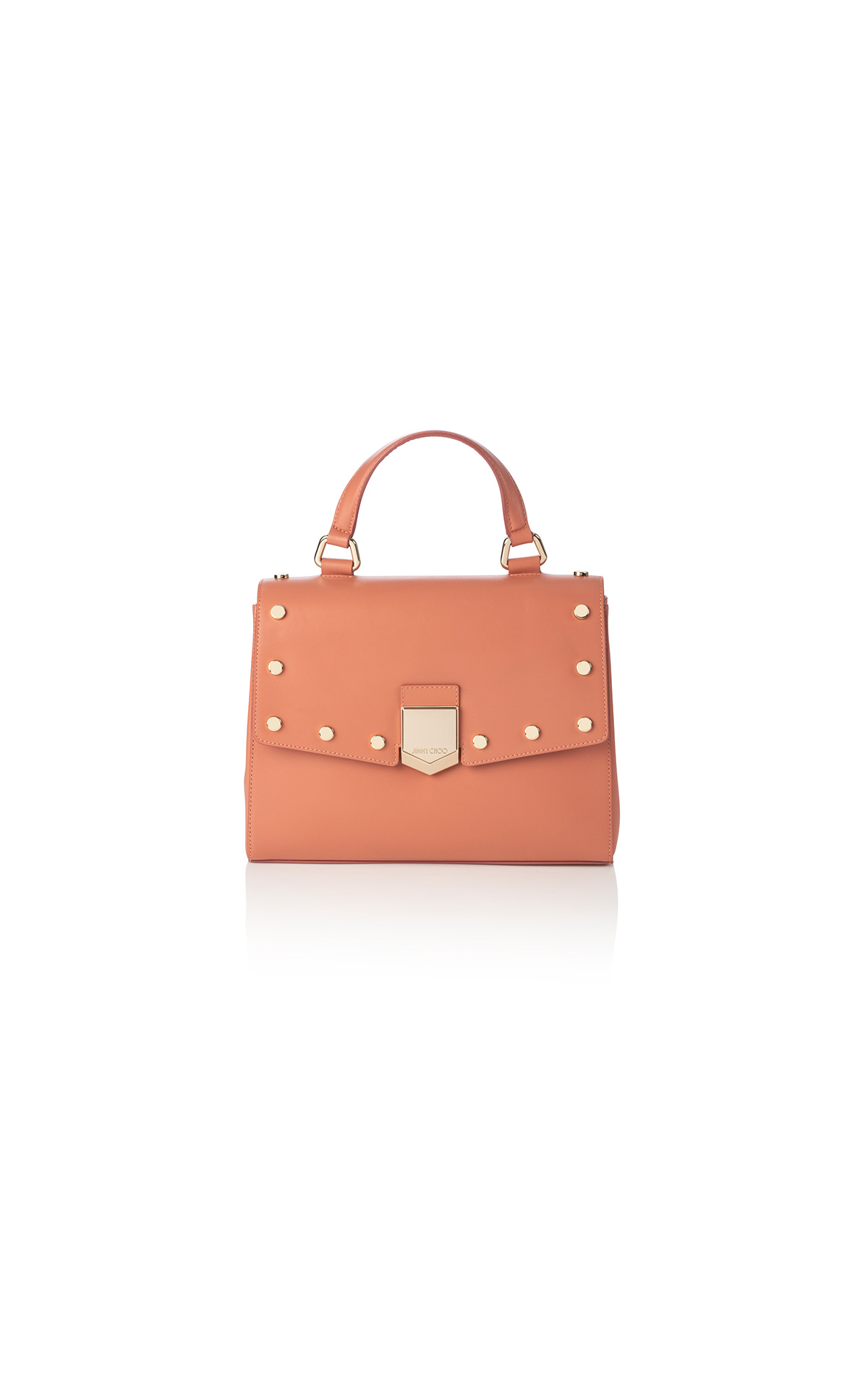 Jimmy Choo Lockett top handle in calf leather poweder pink at The Bicester Village Shopping Collection