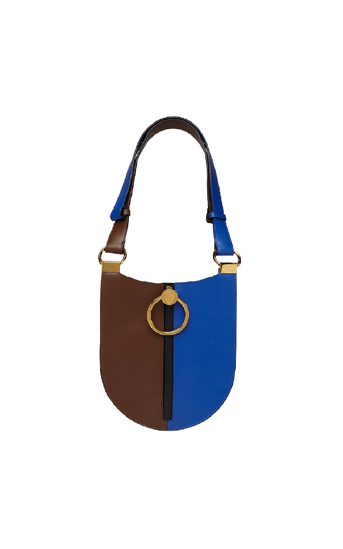 Brown and blue leather bag Marni