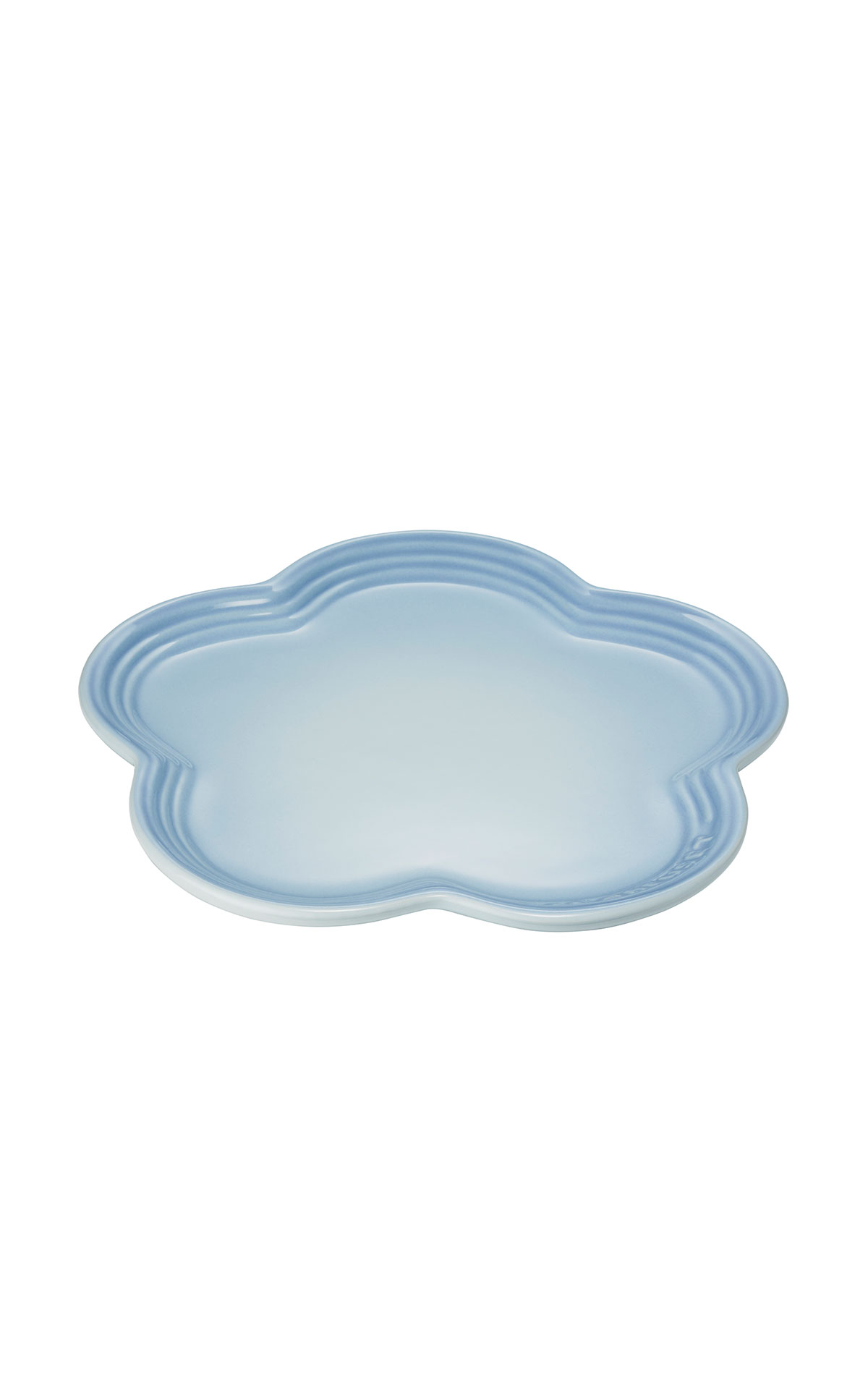 Le Creuset Blue flower plate from Bicester Village