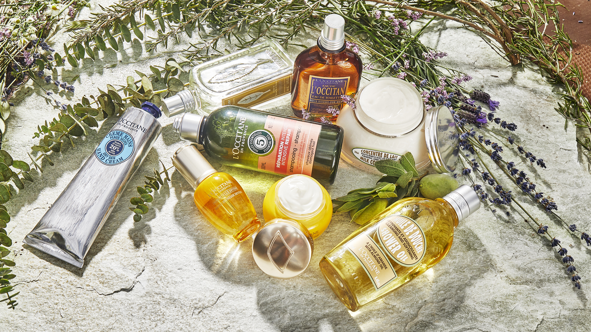 L'Occitane en Provence products still life