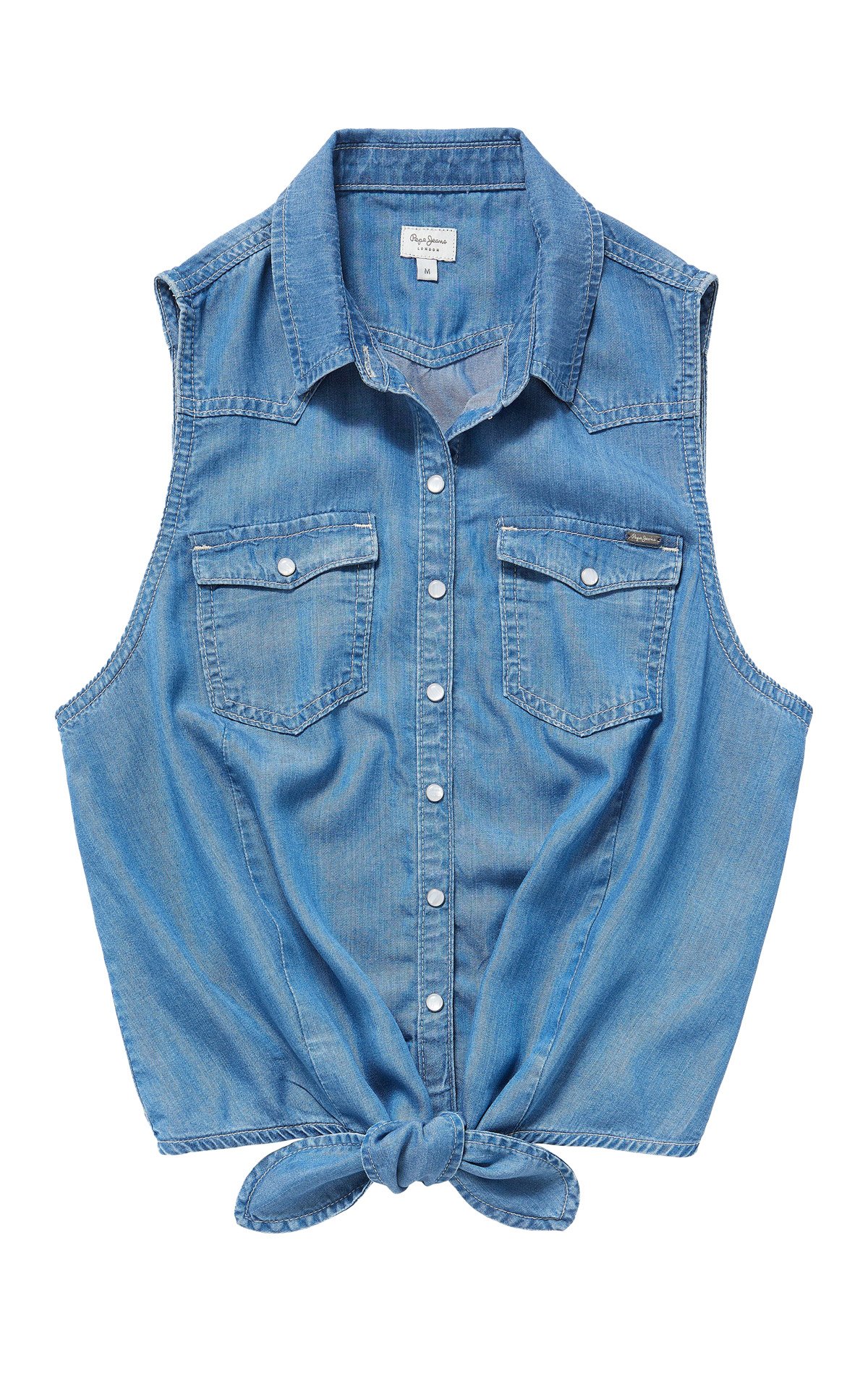 Sleeveless denim shirt Pepe Jeans