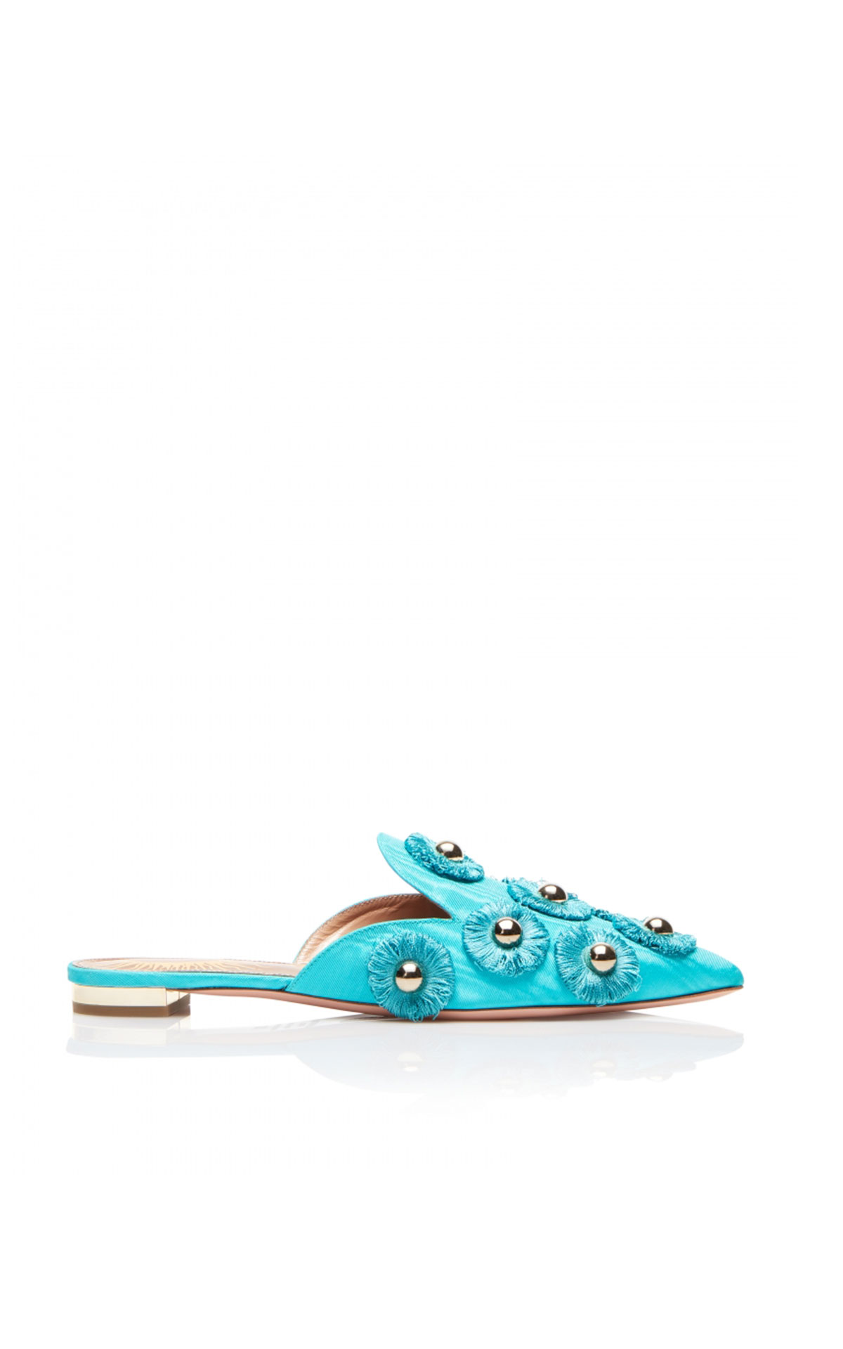 Aquazzura Sunflower flat aquamarine from Bicester Village