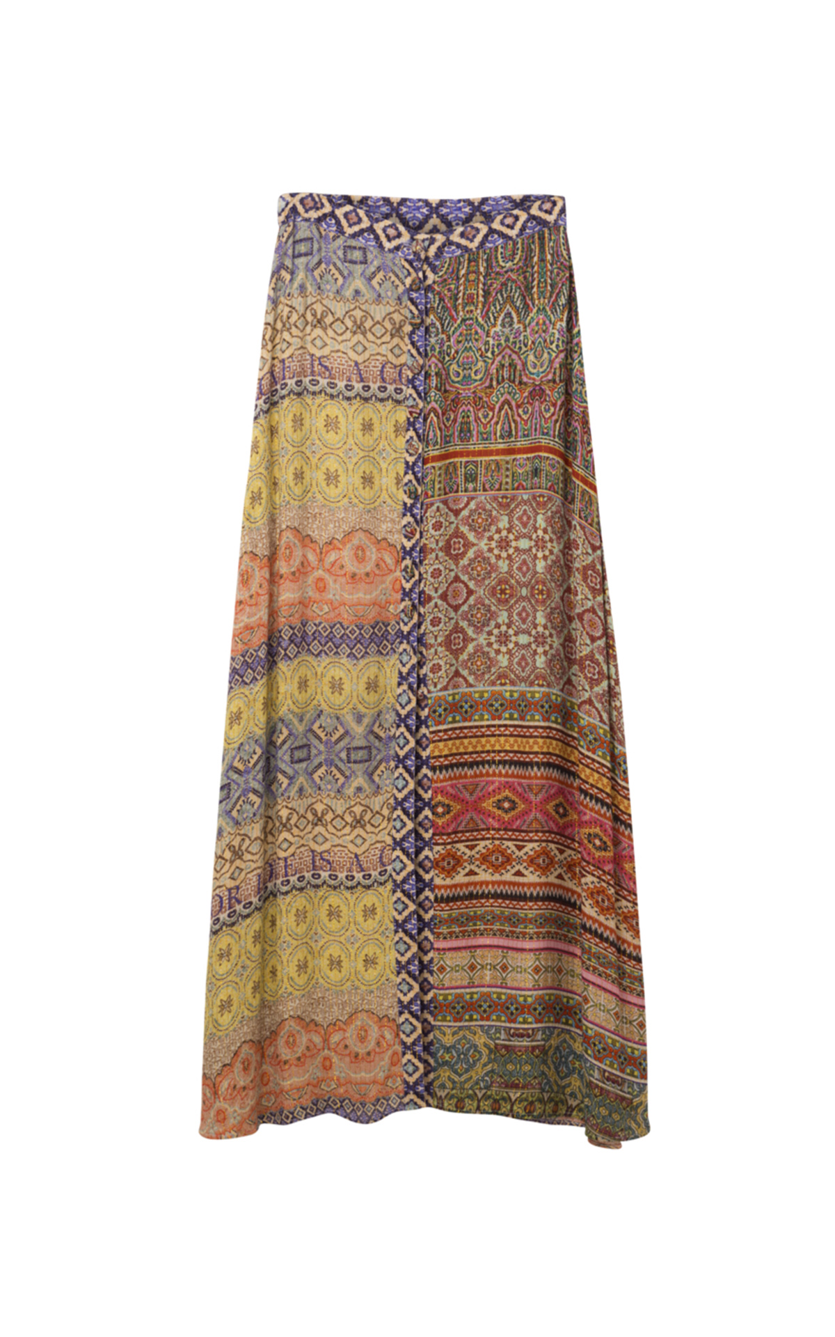 Long brown printed women's skirt Desigual