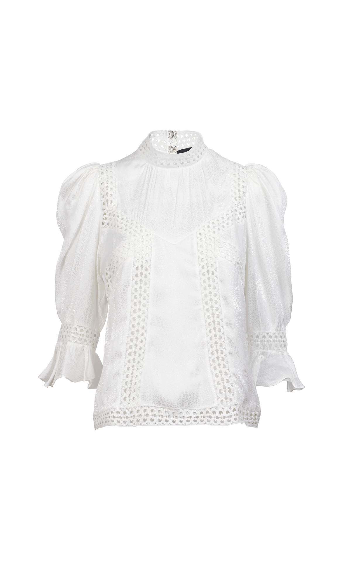 Embroidered white blouse The Kooples