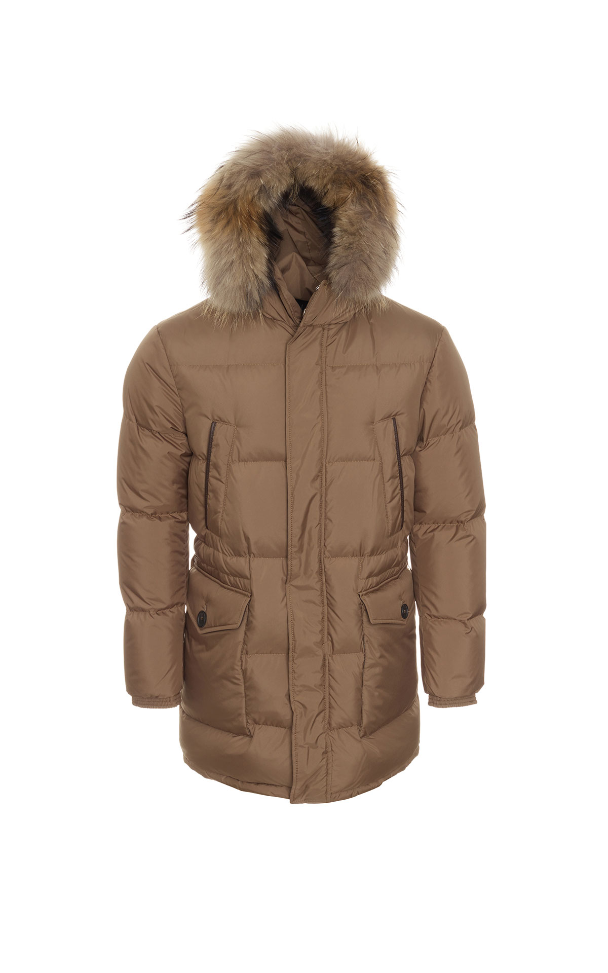Dunhill Cinnammon hooded parka from Bicester Village