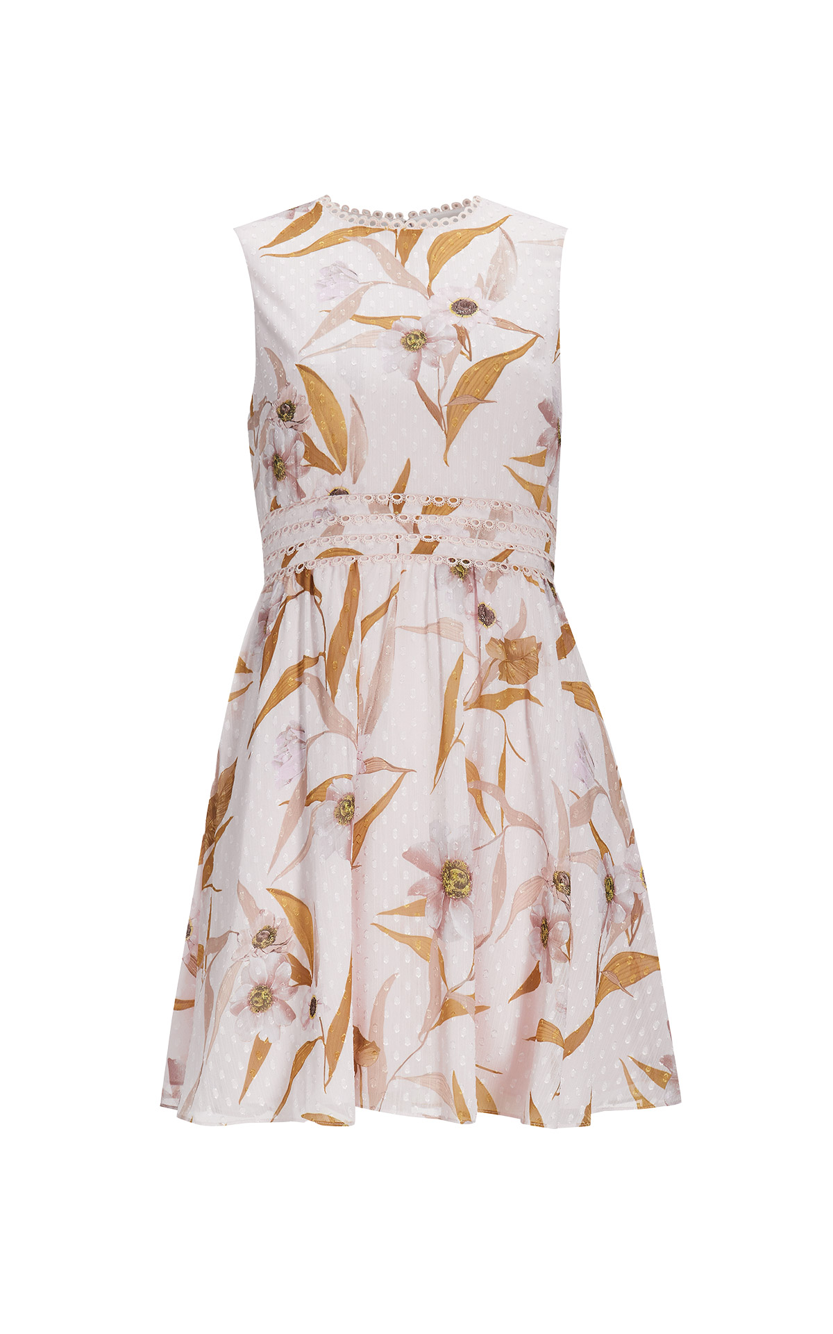 Pink dress with flowers Ted Baker