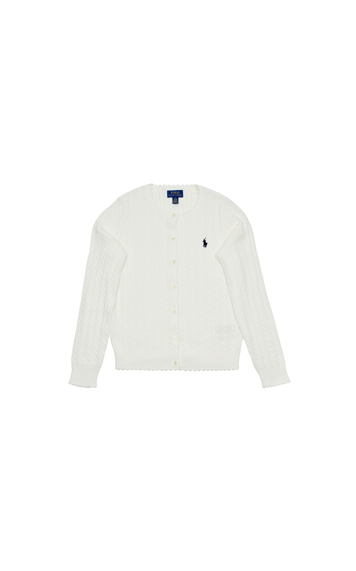 Polo Ralph Lauren Children's cotton cable cardigan at The Bicester Village Shopping Collection