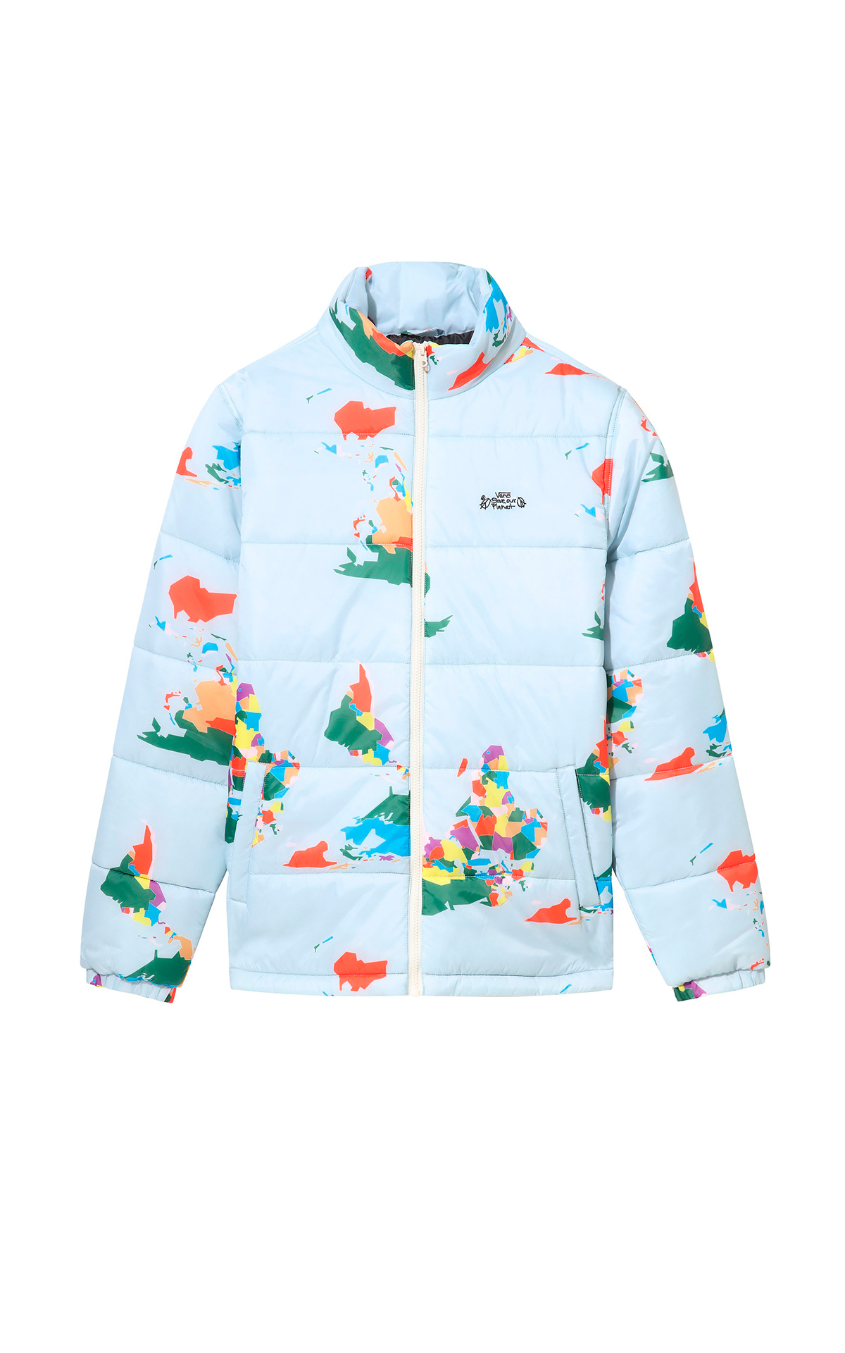 Light blue printed anorak Vans