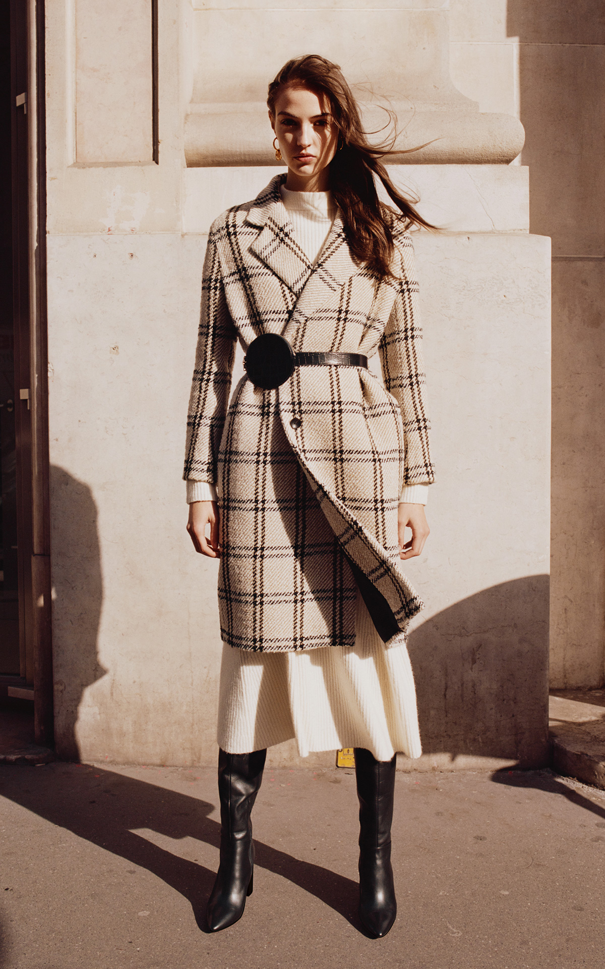 Girl with a checked coat